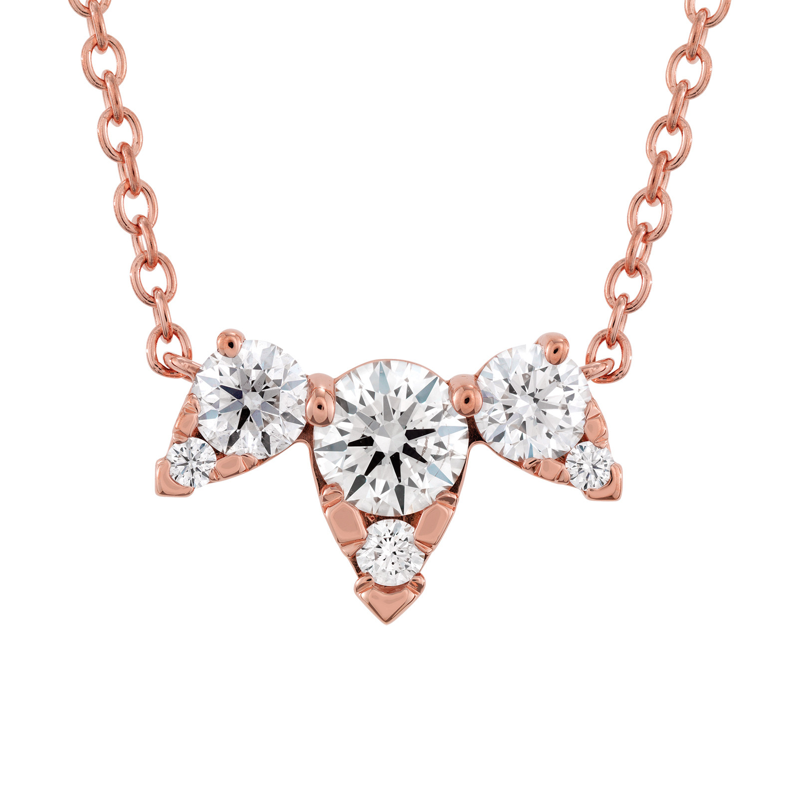 New Hearts On Fire® 0.46 CTW Diamond Triple Aerial Necklace