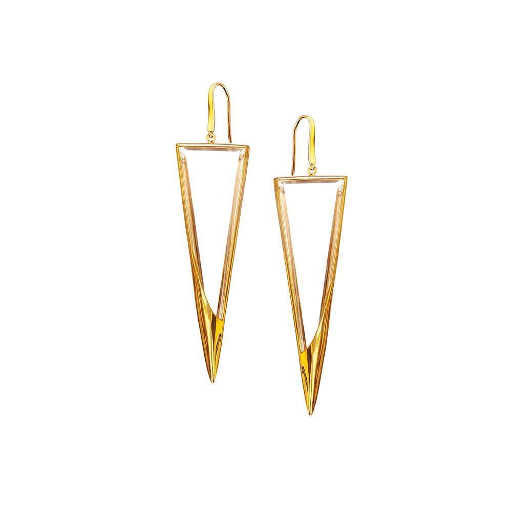 New Lana Jetset Crystal Dagger Earrings