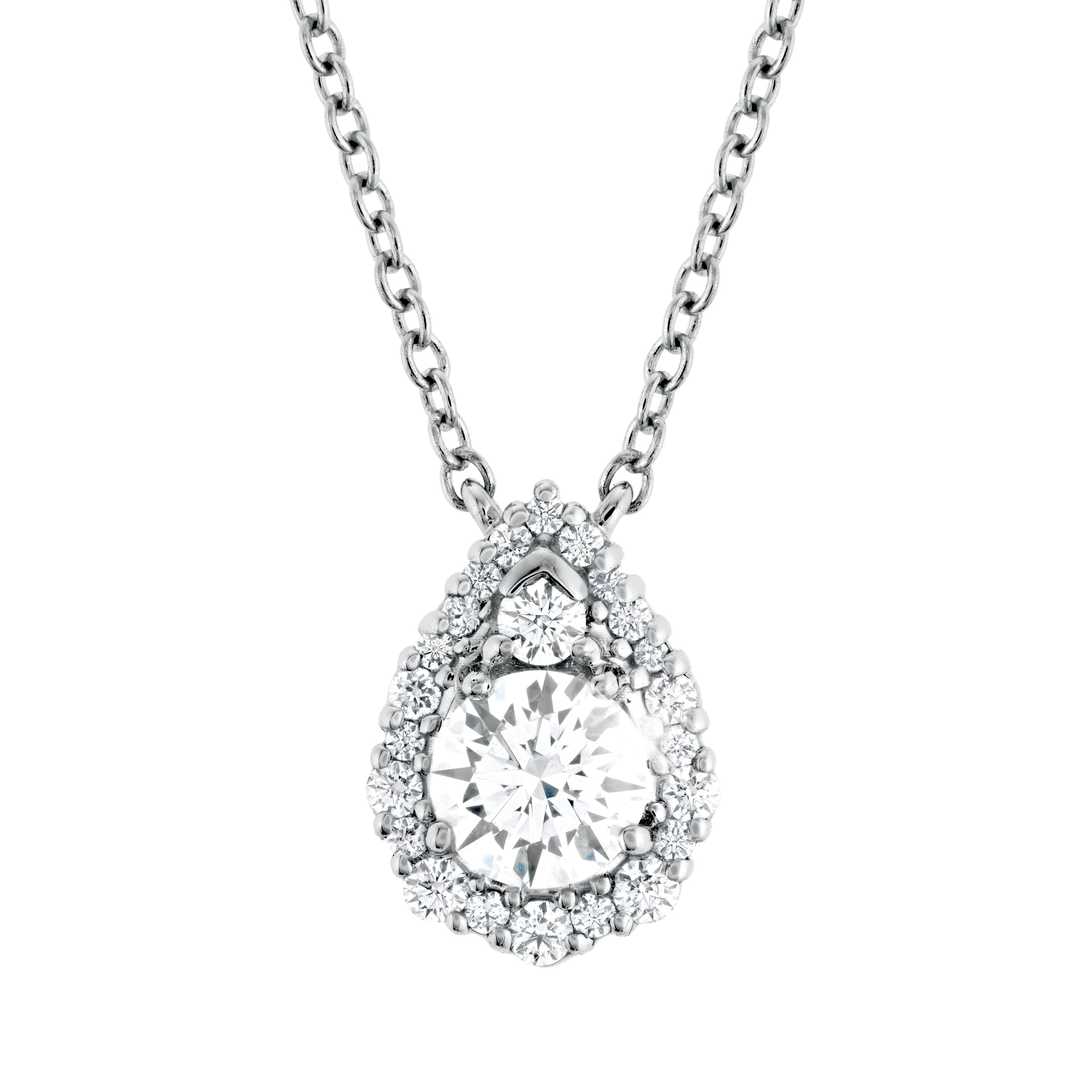New Hearts On Fire® 0.40 CTW Diamond Teardrop Halo Necklace