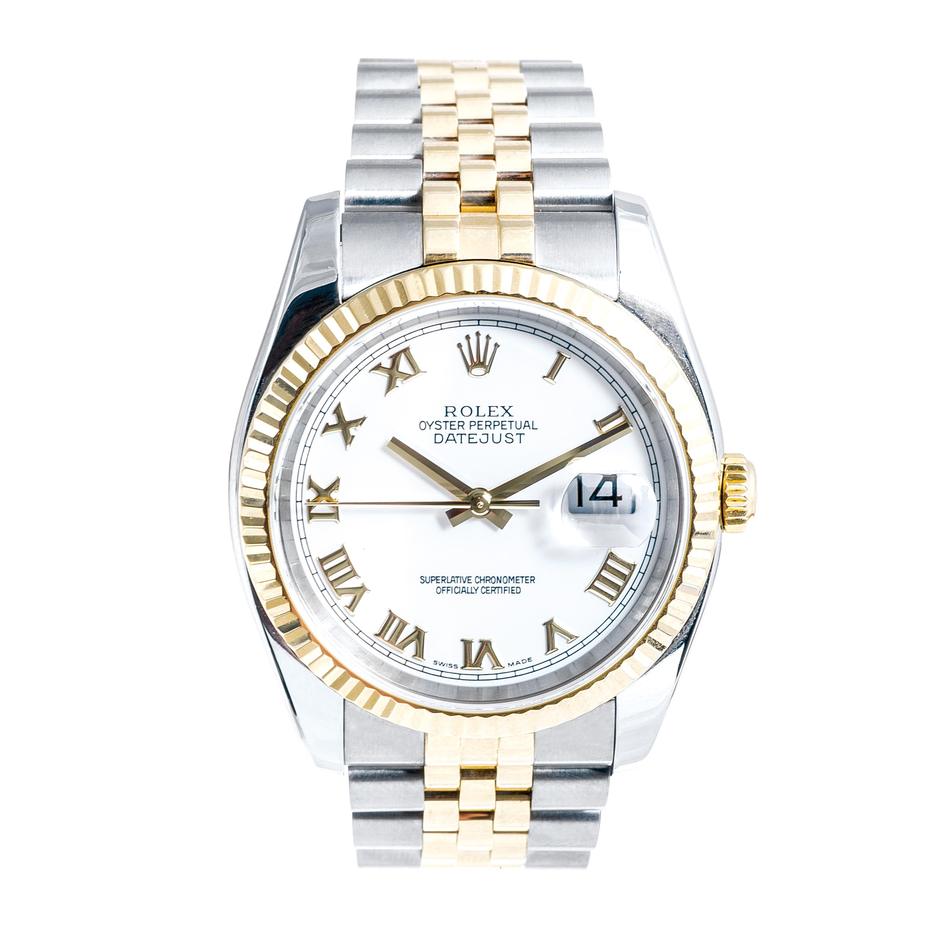 Pre-Owned Men's Two-Tone Rolex Datejust