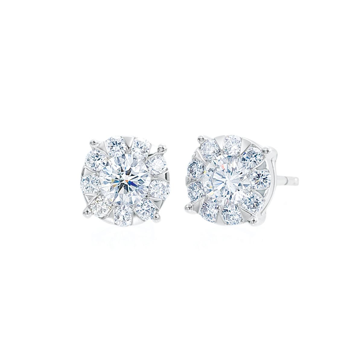 New Mémoire 0.20 CTW Diamond Bouquet Earrings