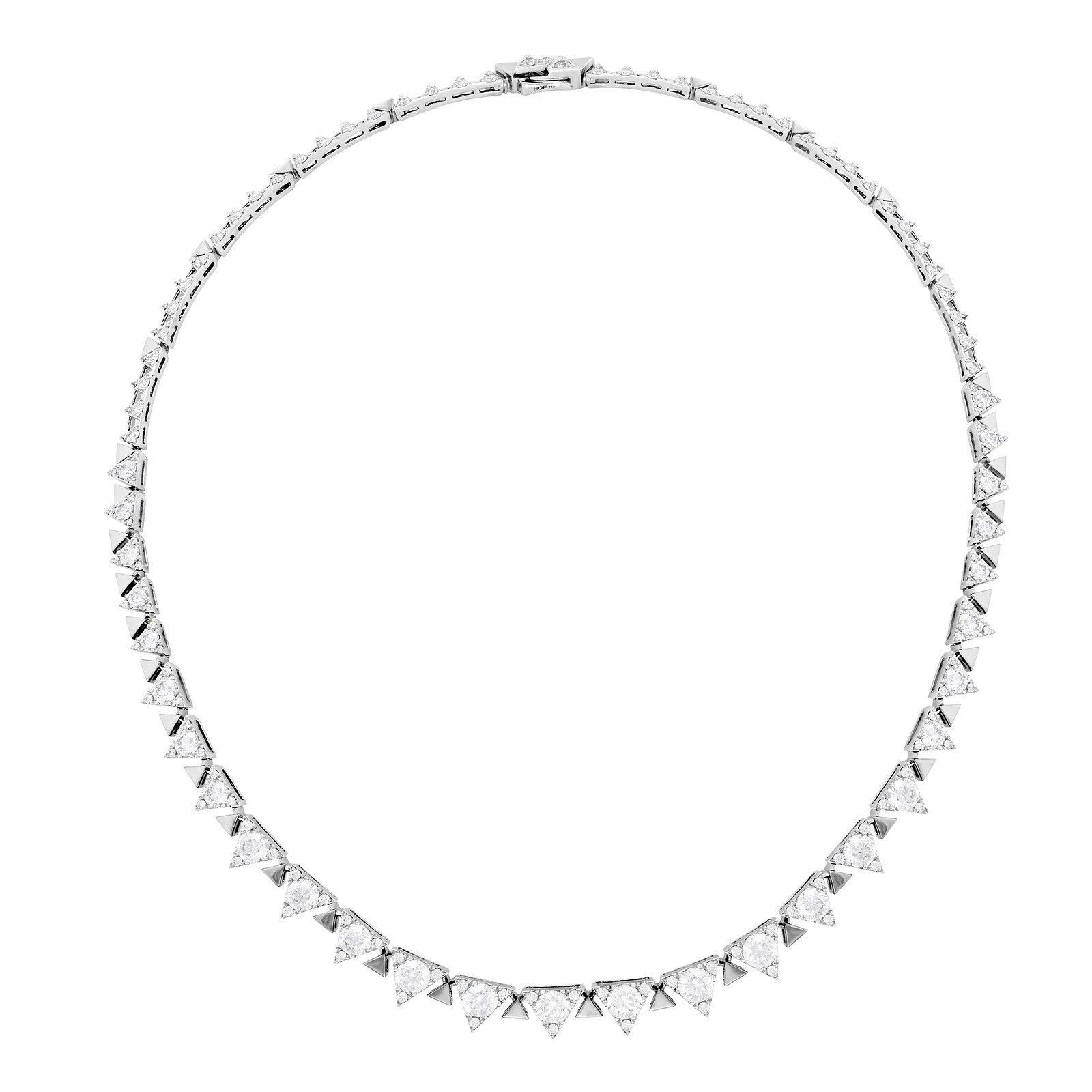 New Hearts On Fire® 9.32 CTW Diamond Triplicity Line Necklace