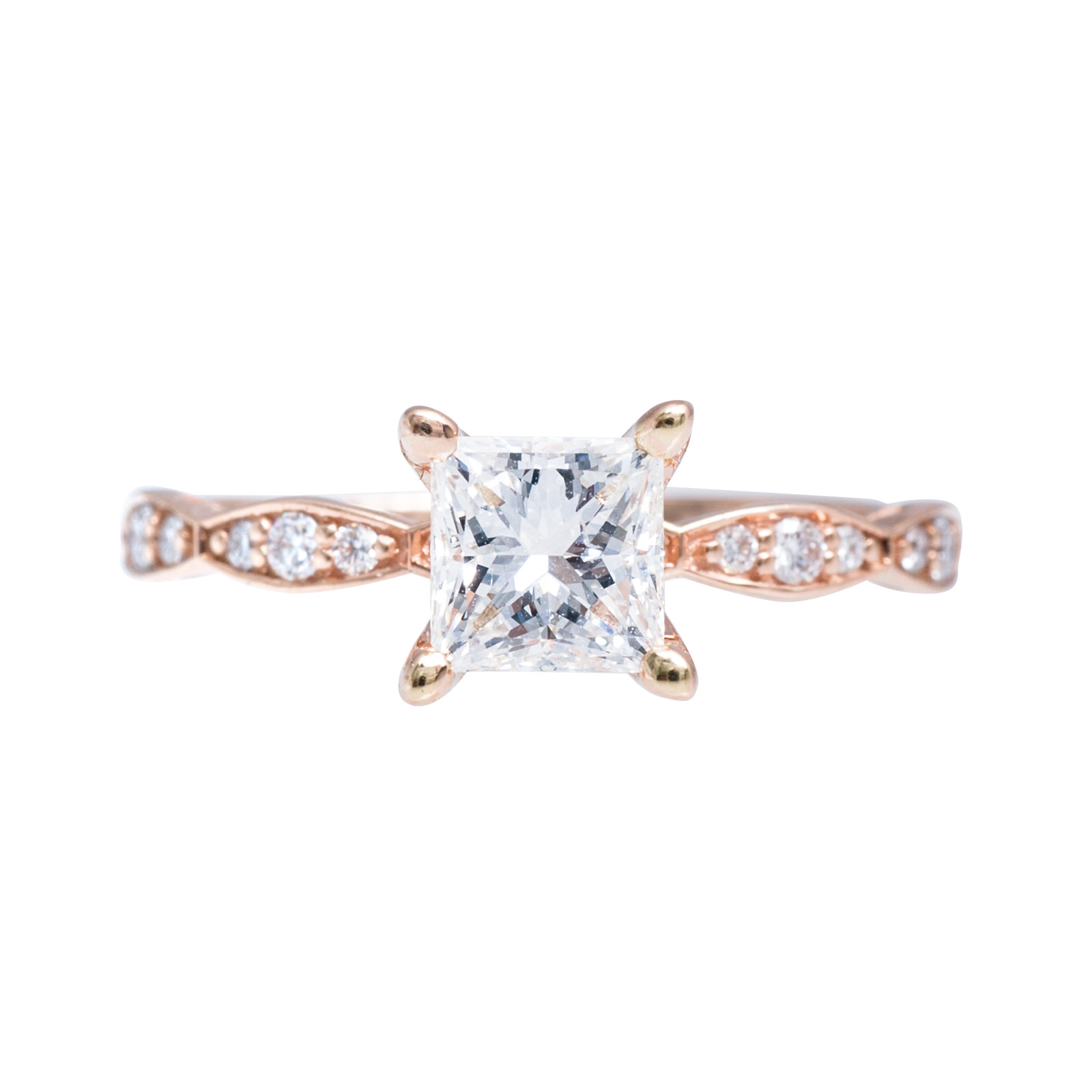Vintage Tacori 1.05 CTW Diamond Engagement Ring