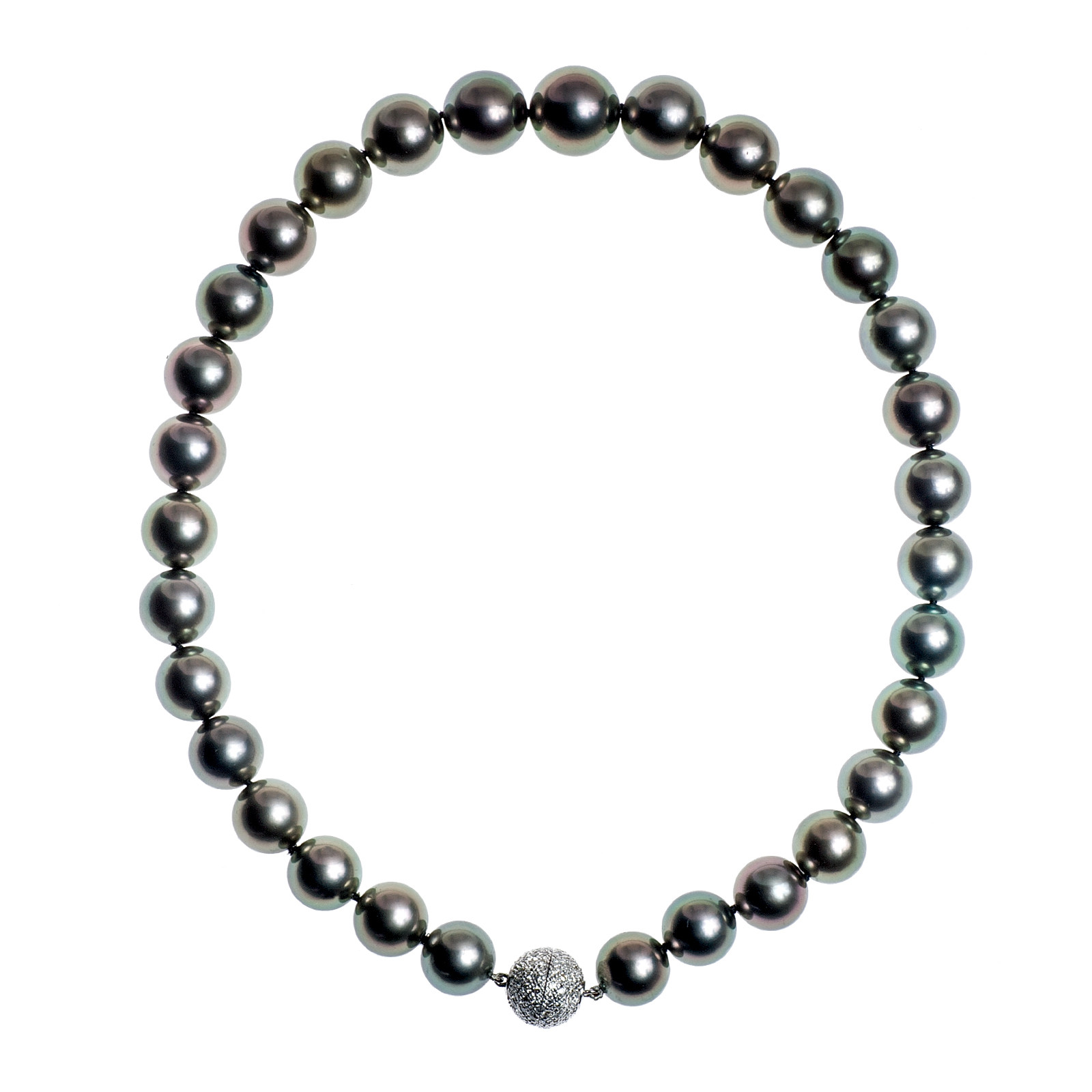 Vintage 1.00 CTW Diamond & Tahitian Pearl Necklace