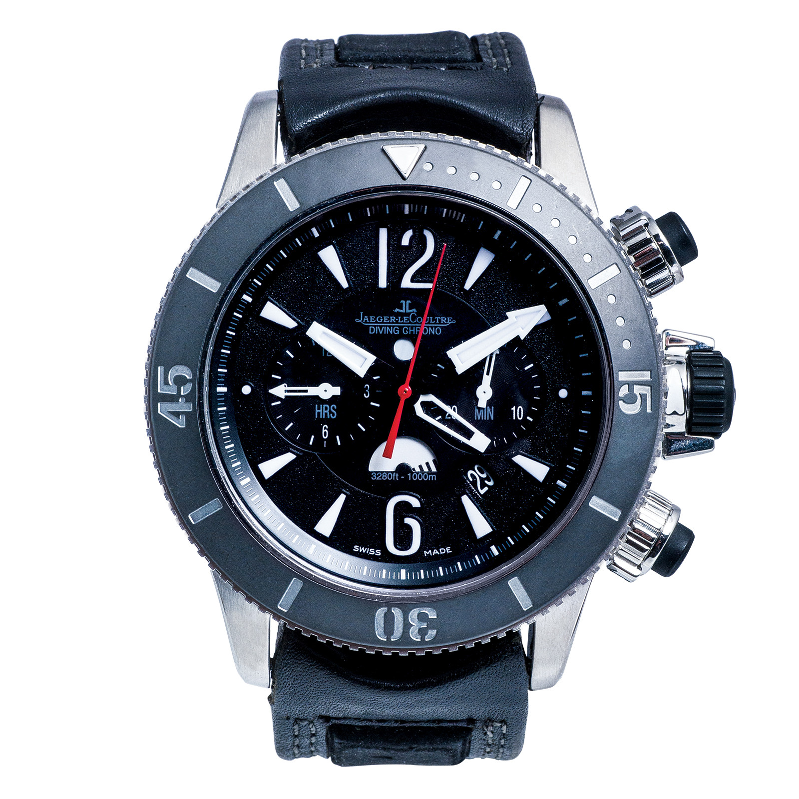 Pre-Owned Man's Jaeger-LeCoultre Master Compressor Diving Chronograph GMT Navy Seals