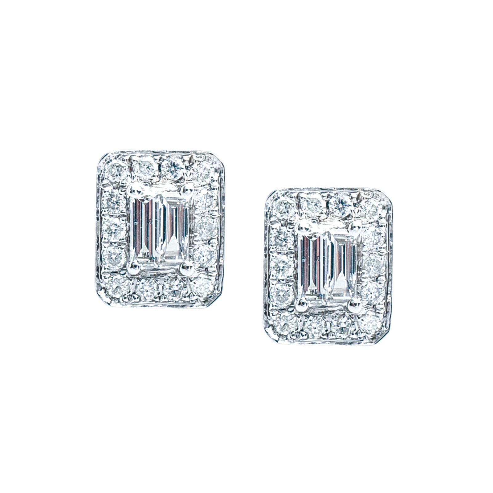 Vintage 0.50 CTW Diamond Stud Earrings