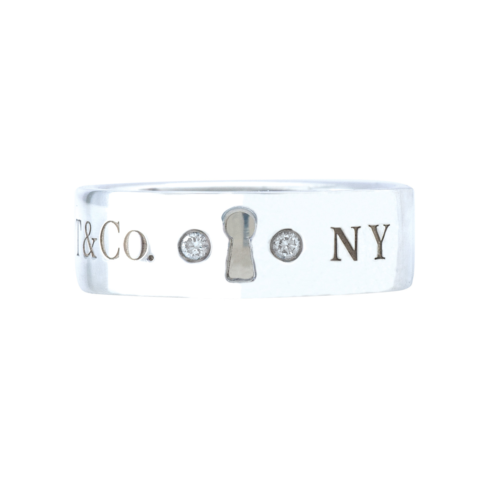 Vintage Tiffany & Co. 0.04 CTW Diamond Locks Ring