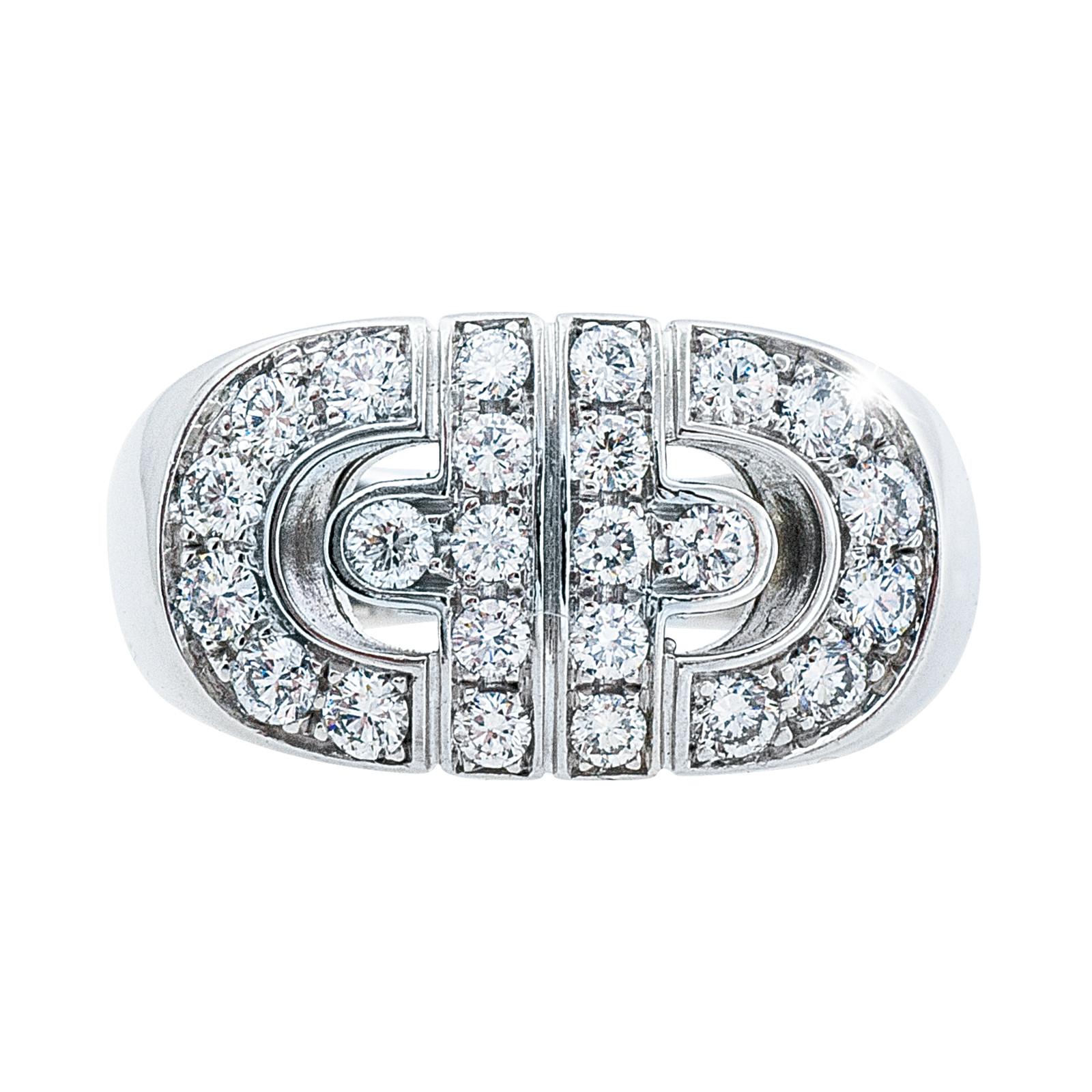 Vintage Bulgari 0.75 Diamond Parentensi Ring