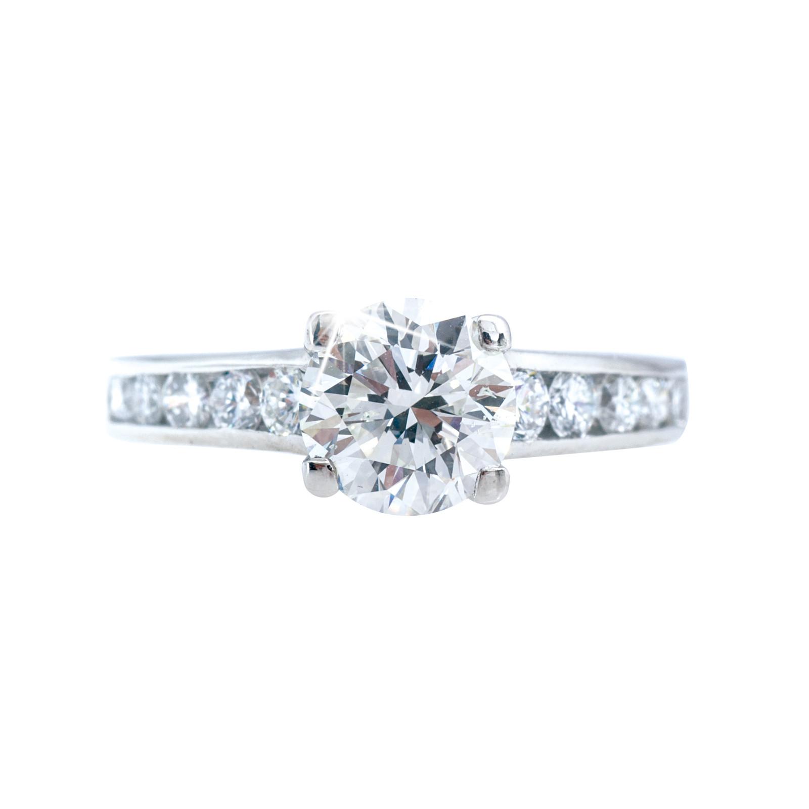 Vintage 1.45 CTW Diamond Engagement Ring