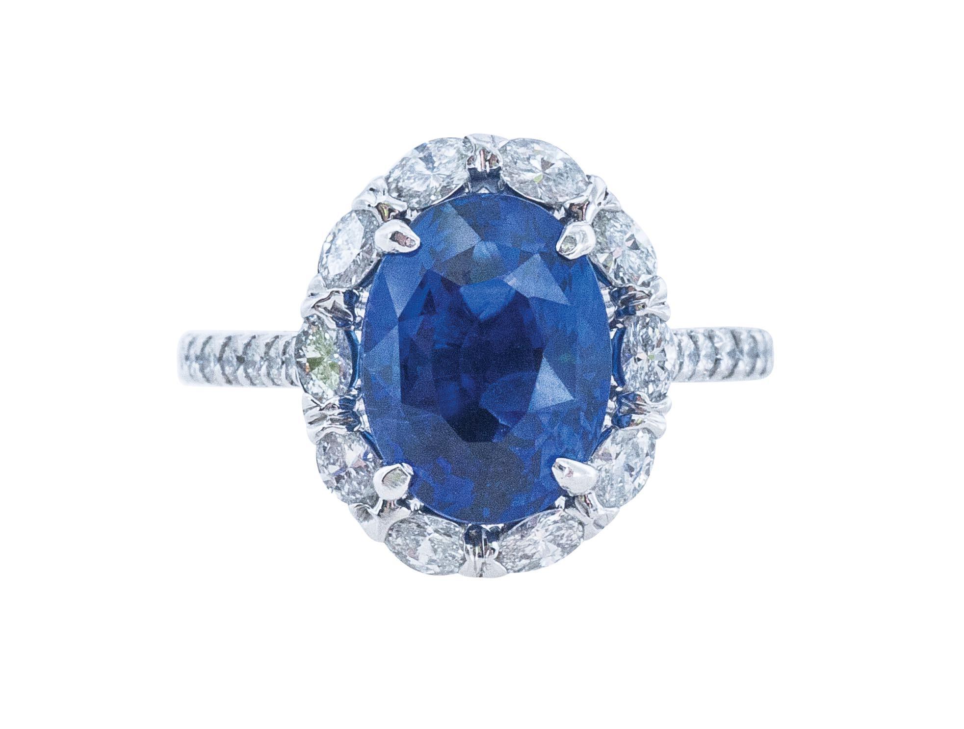 New 5.61 CTW Sapphire & Diamond Ring