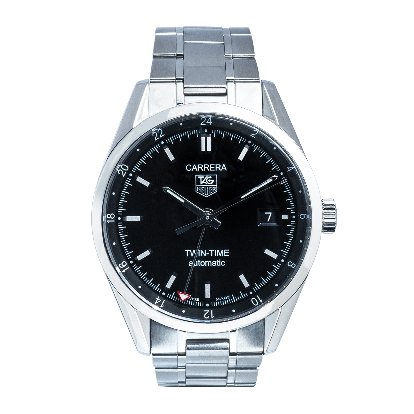 Pre-Owned Men's Tag Heuer 38MM Carrera Twin-Time