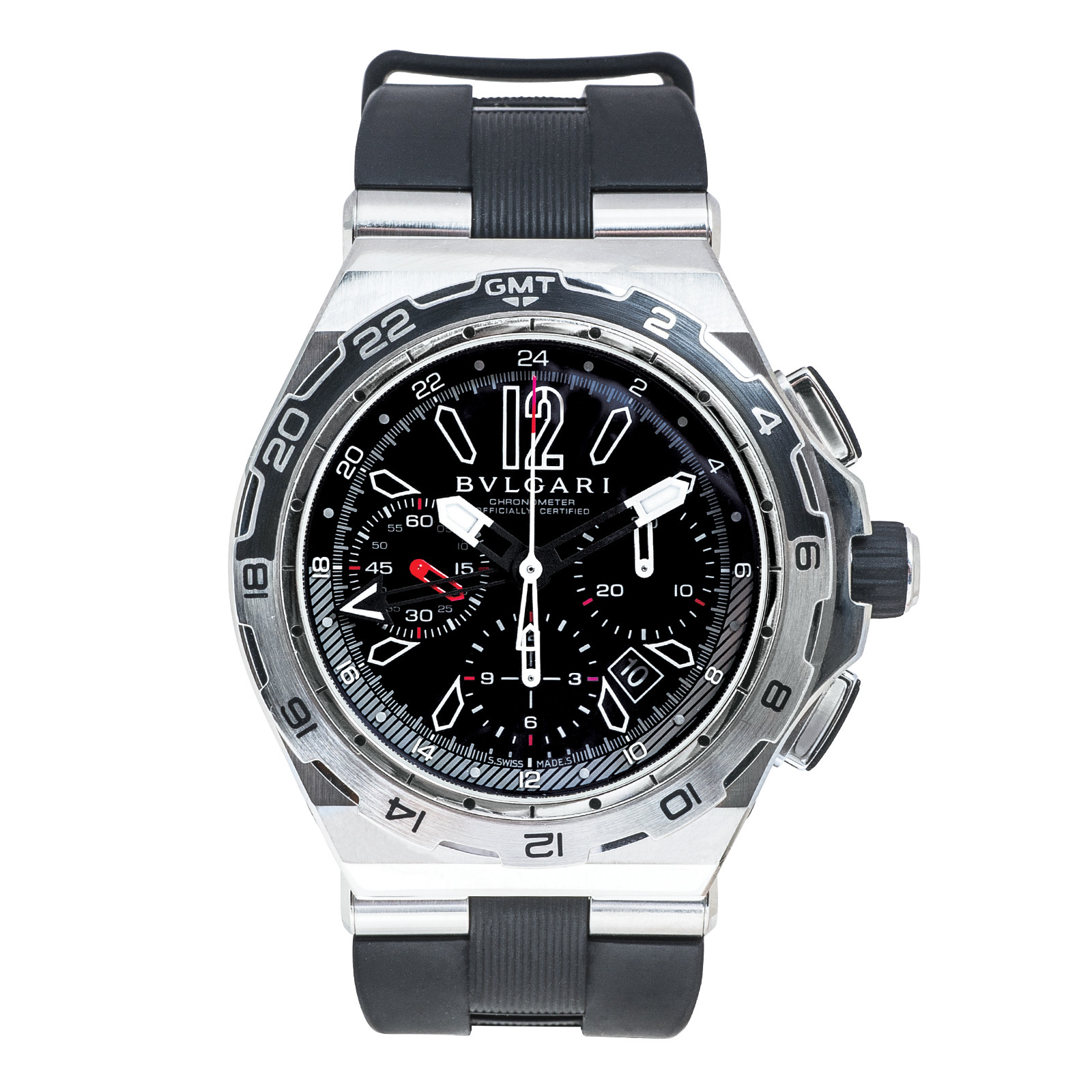Pre-Owned Men's Bulgari 44MM Diagono X-Pro Chronograph