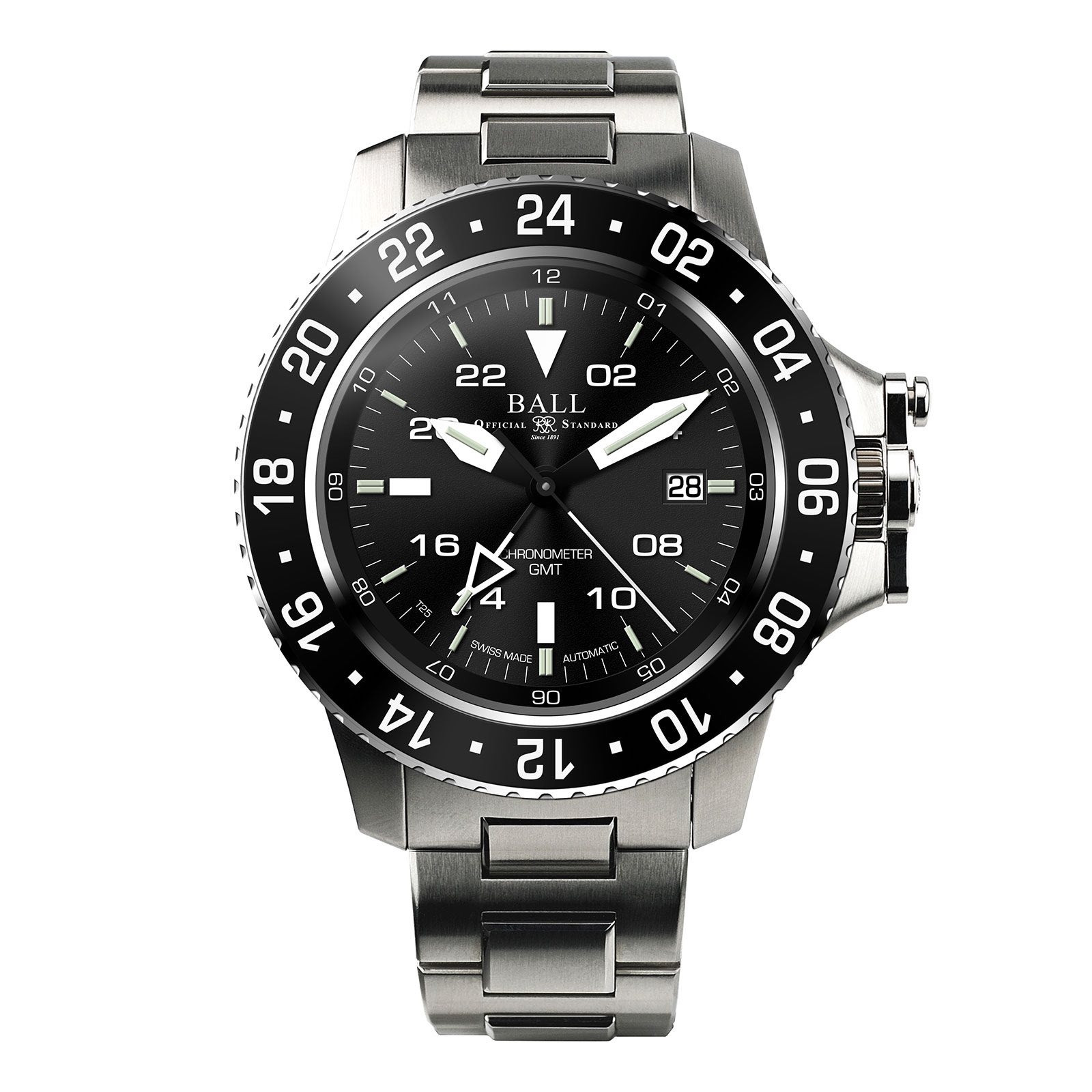 New Men's Ball Engineer Hydrocarbon GMT