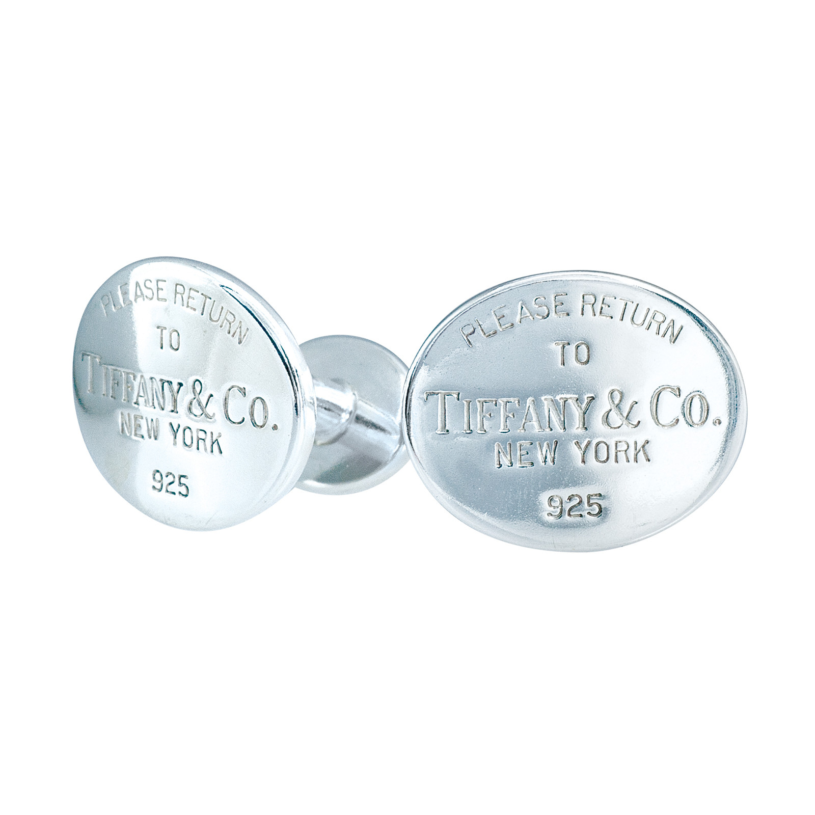 Buy Accessories Vintage Tiffany Co Sterling Silver Please Return To Tiffany Oval Cufflinks Return To Tiffany Cufflinks