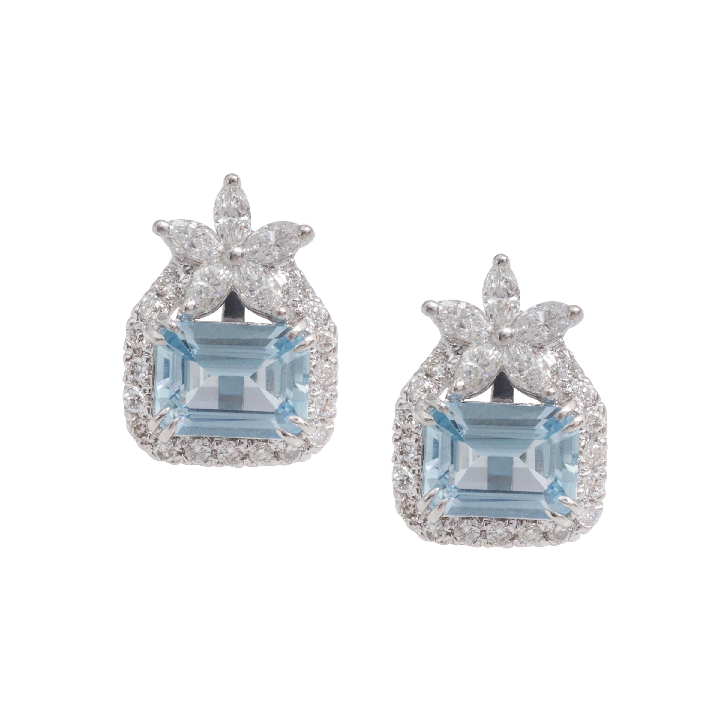 New 3.14 CTW Emerald & Diamond Halo Earrings