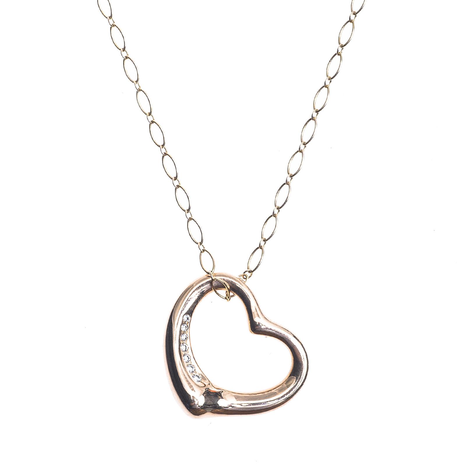 Vintage tiffany co 010 ctw diamond elsa peretti open heart vintage tiffany co 010 ctw diamond elsa peretti open heart necklace aloadofball Choice Image