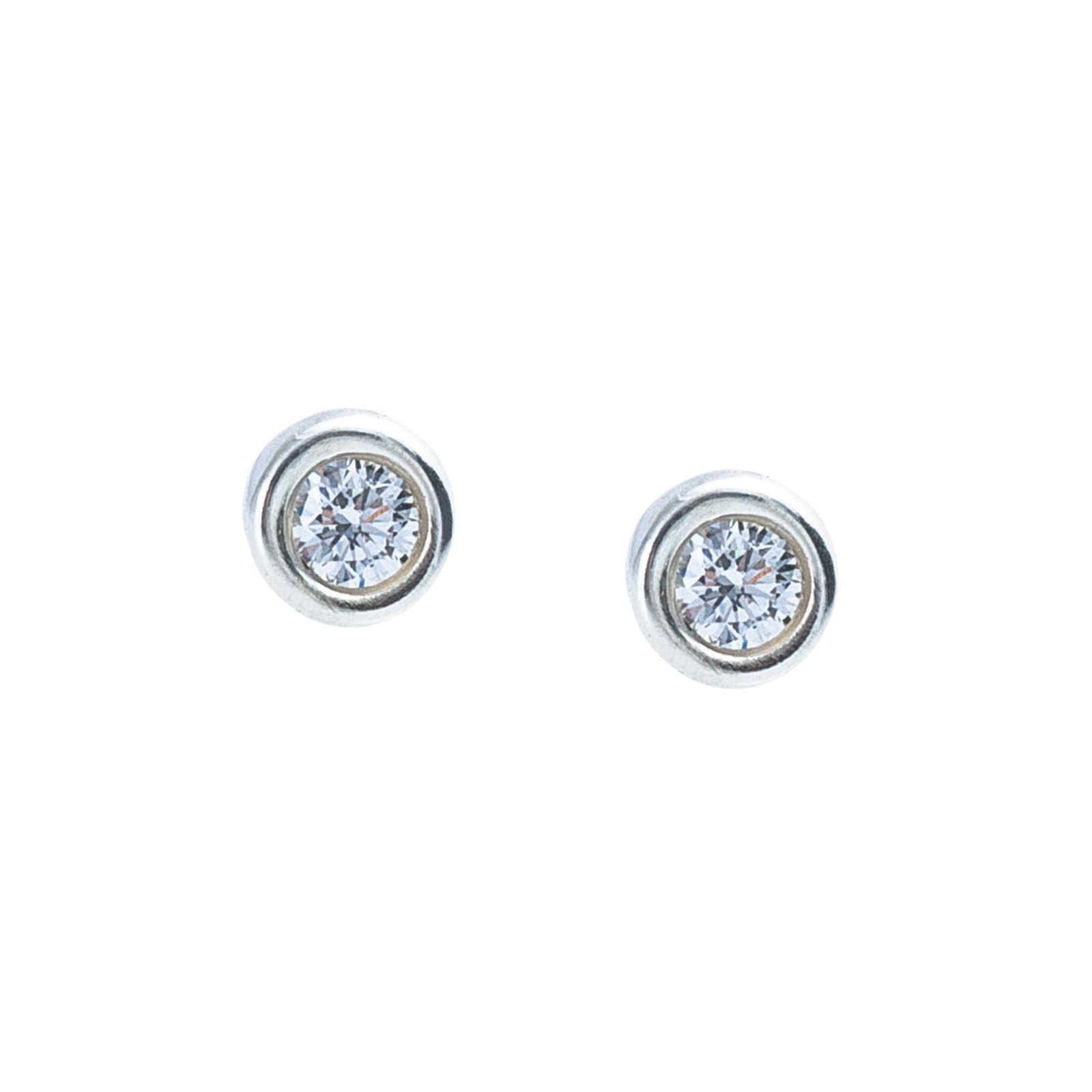 f1546ce8f More Views. Vintage Tiffany & Co. Elsa Peretti Diamonds By the Yard Stud  Earrings ...
