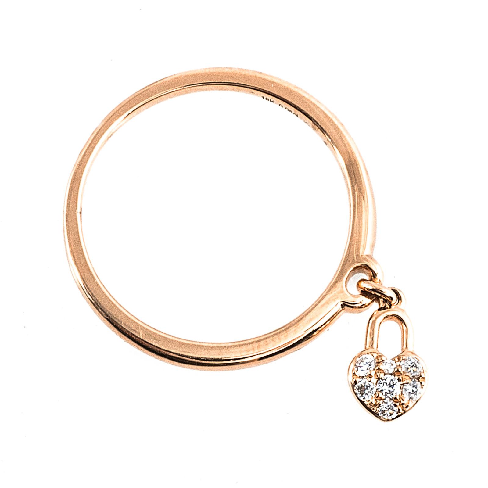 New Mémoire® 0.08 CTW Diamond Lover's Locks Ring