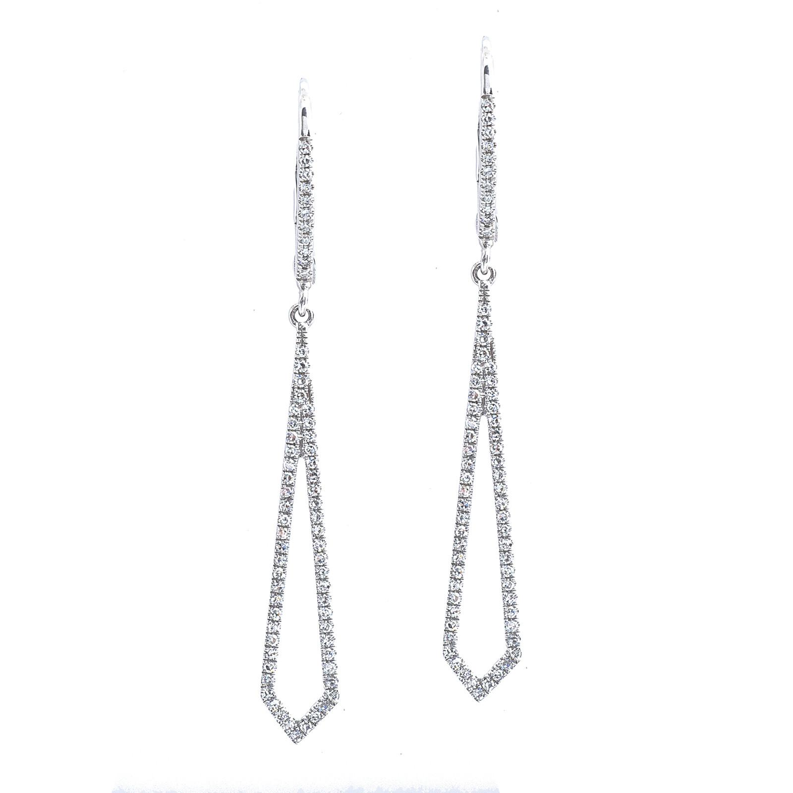 New Venetti 0.30 CTW Diamond Drop Earrings