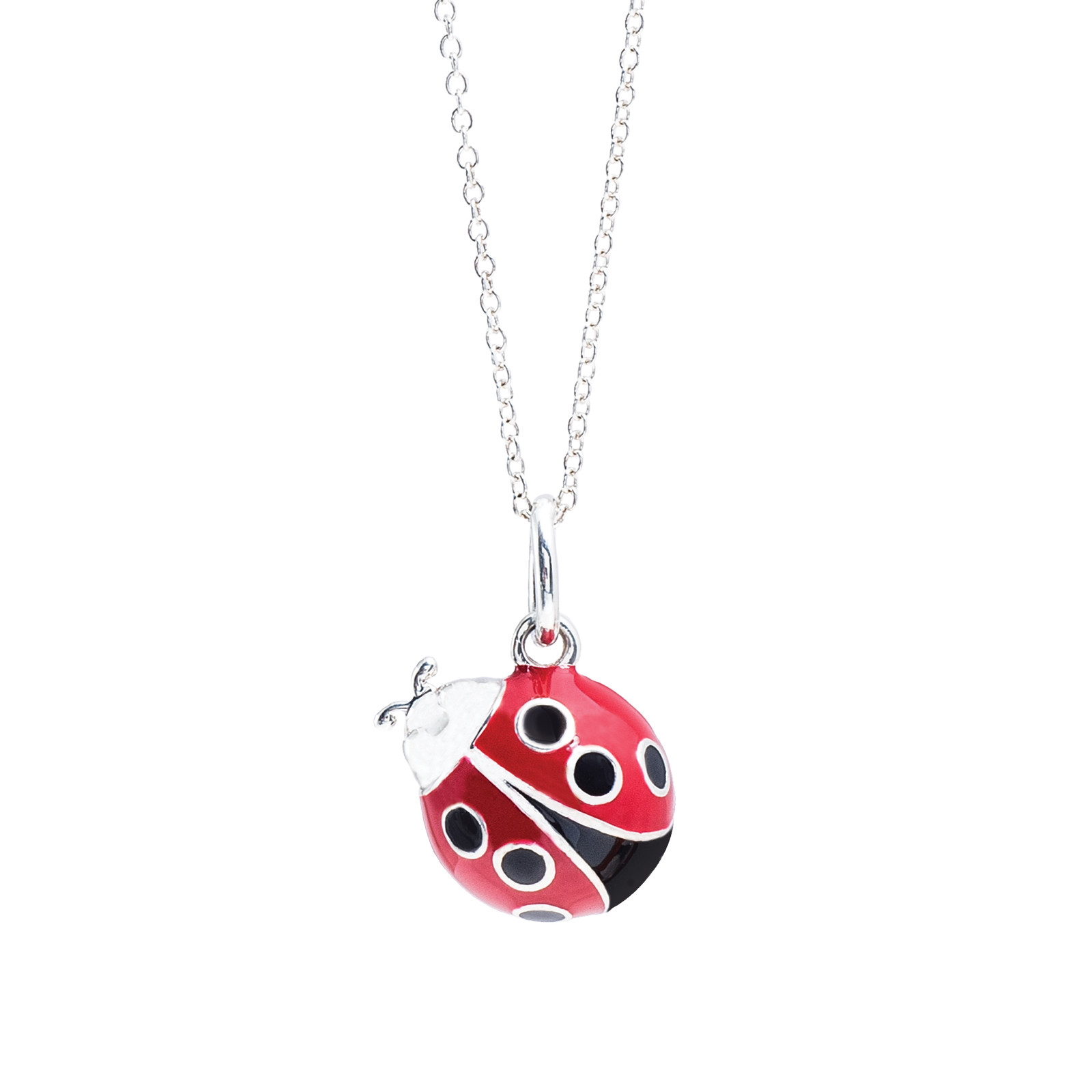 Vintage Tiffany & Co. Red Enamel Lady Bug Necklace
