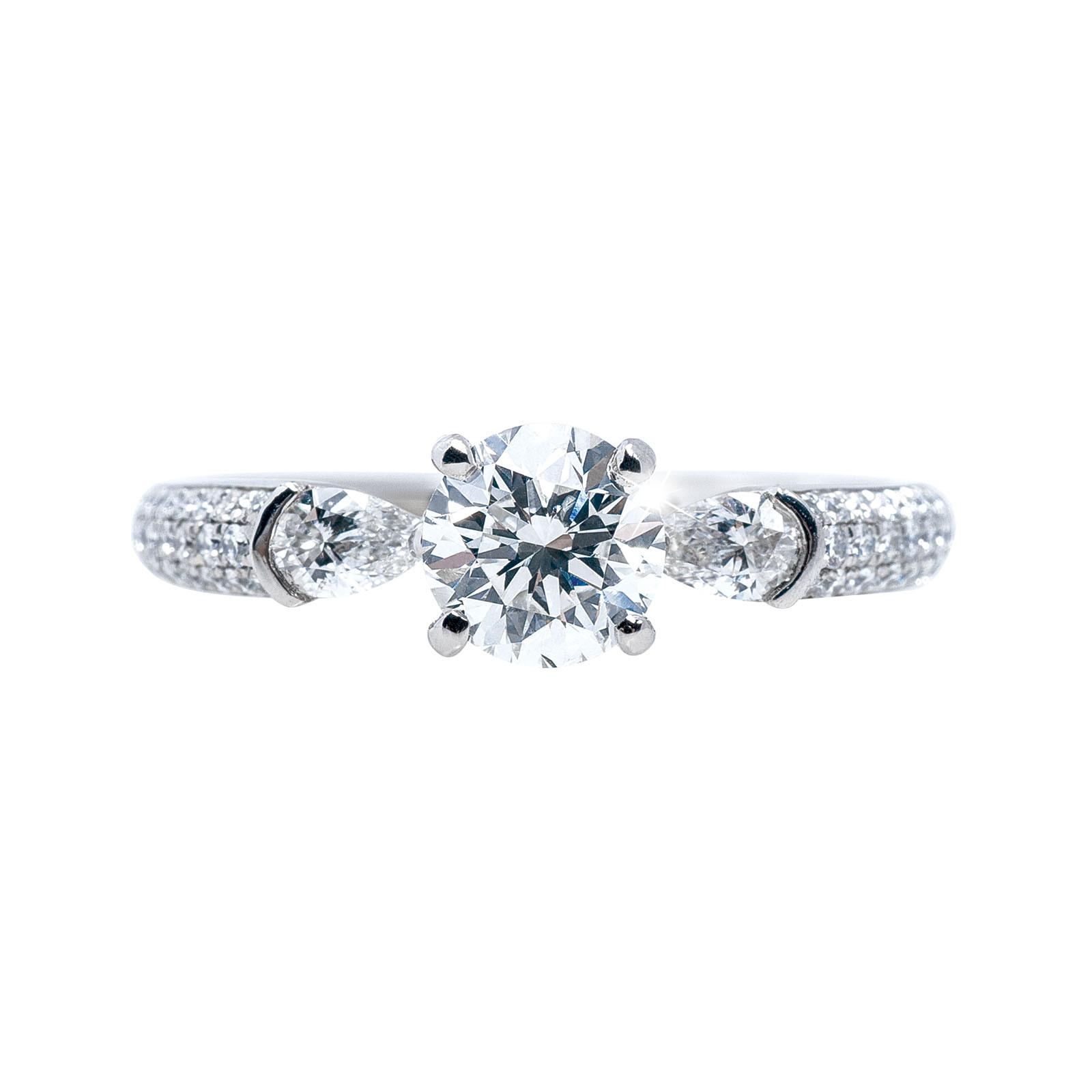 Vintage Simon G 1.17 CTW Diamond Engagement Ring