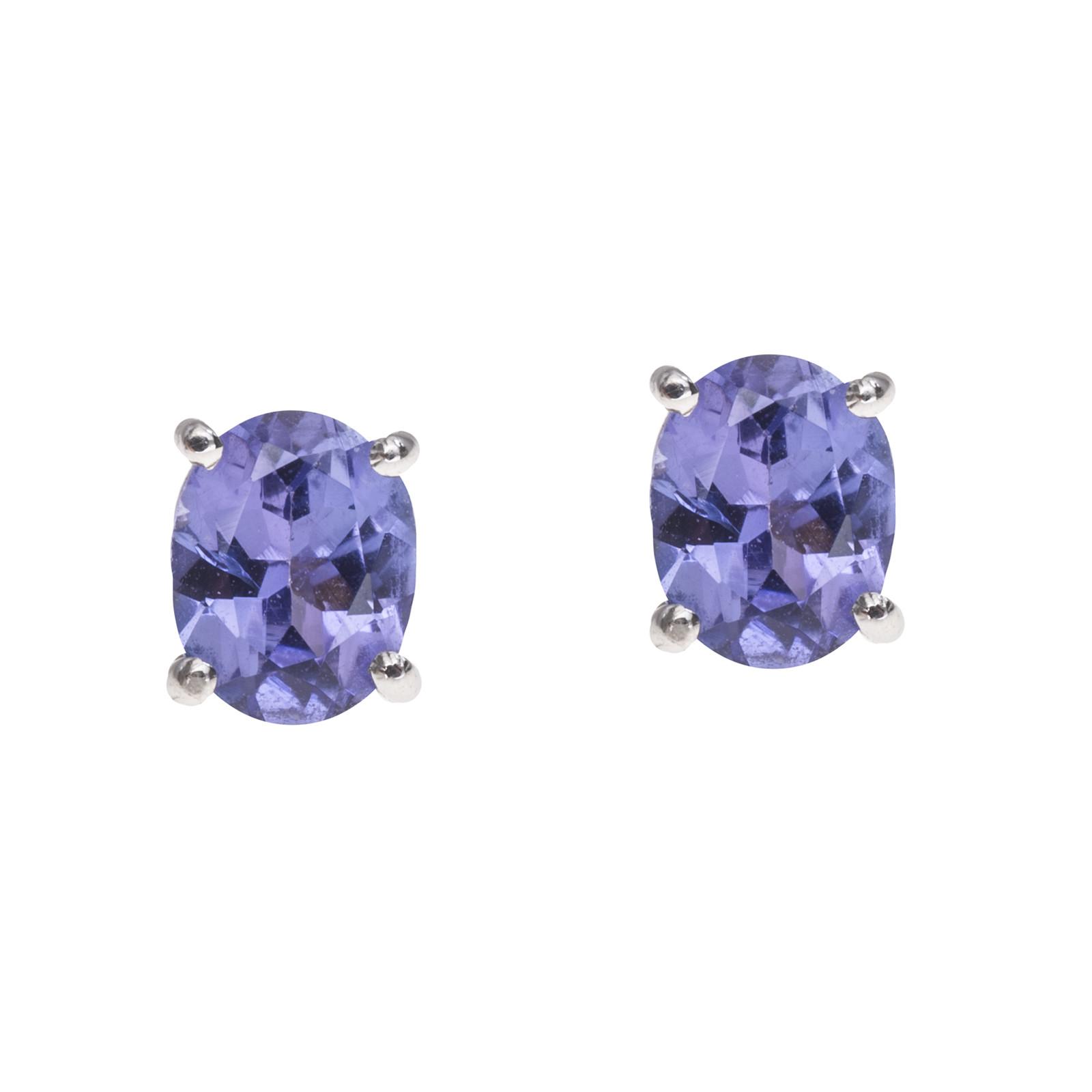 New 0.67 CTW Tanzanite Stud Earrings