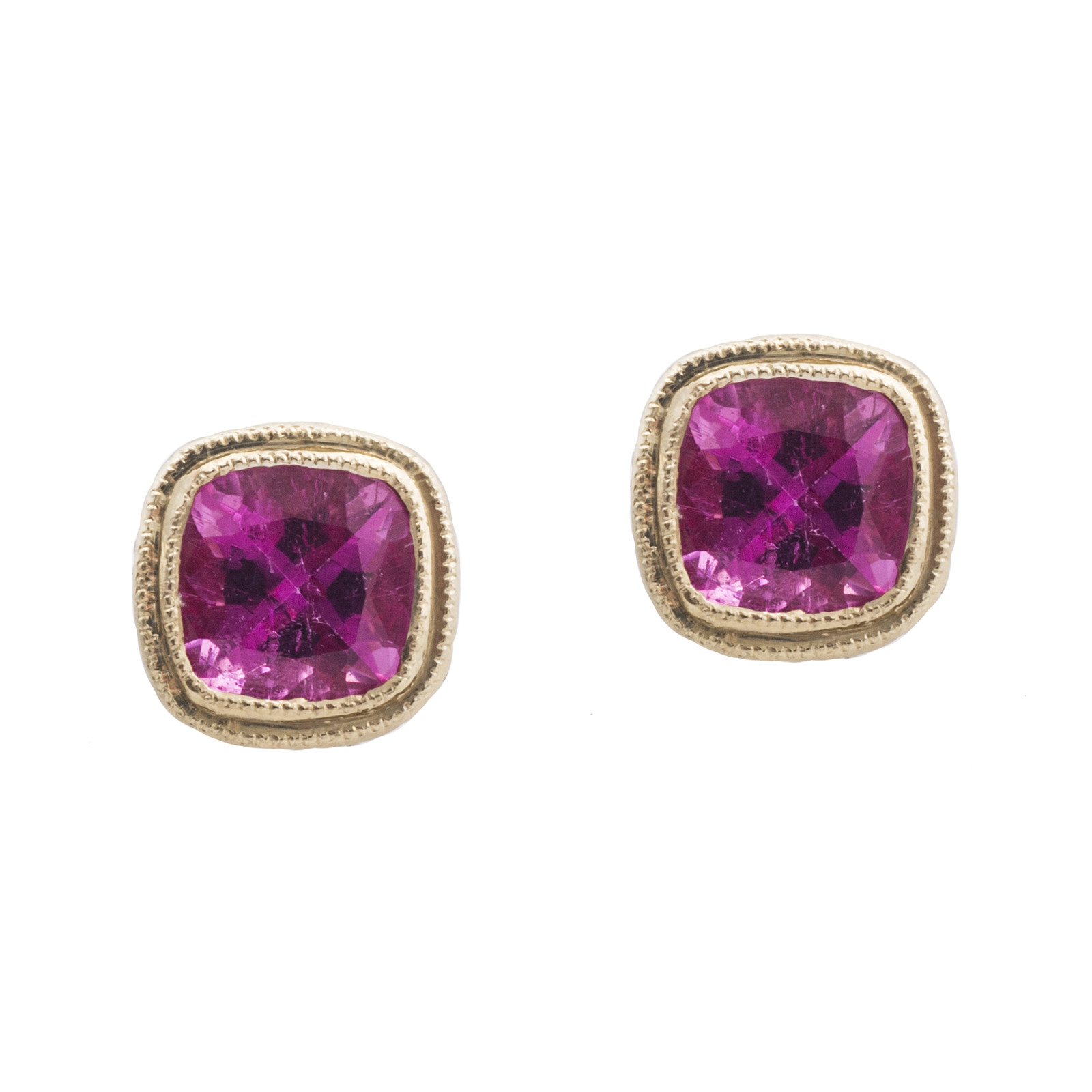 New 1.85 CTW Pink Tourmaline Earrings