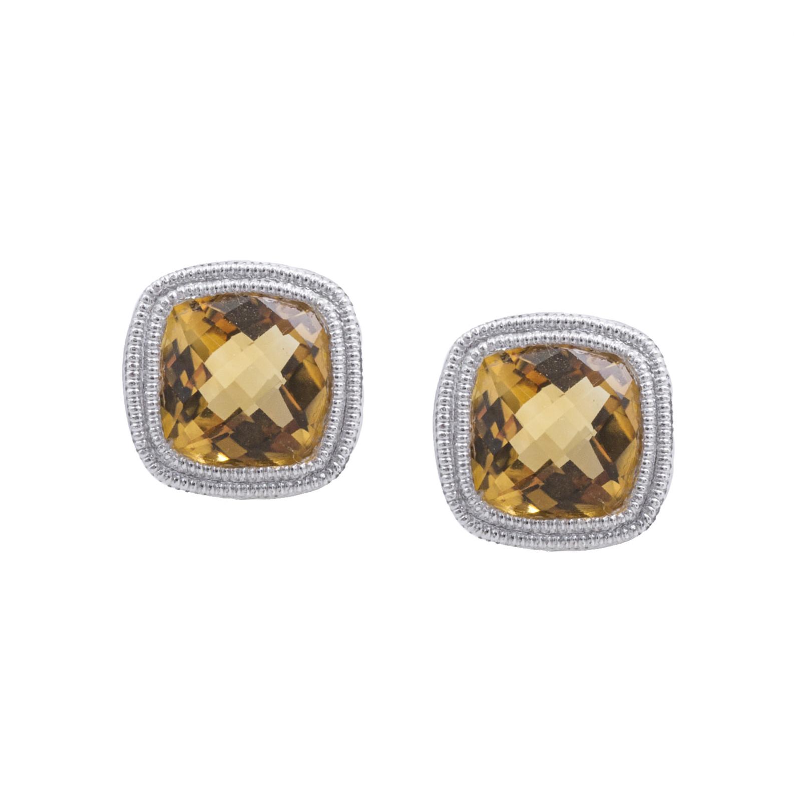 New 1.80 CTW Citrine Stud Earrings