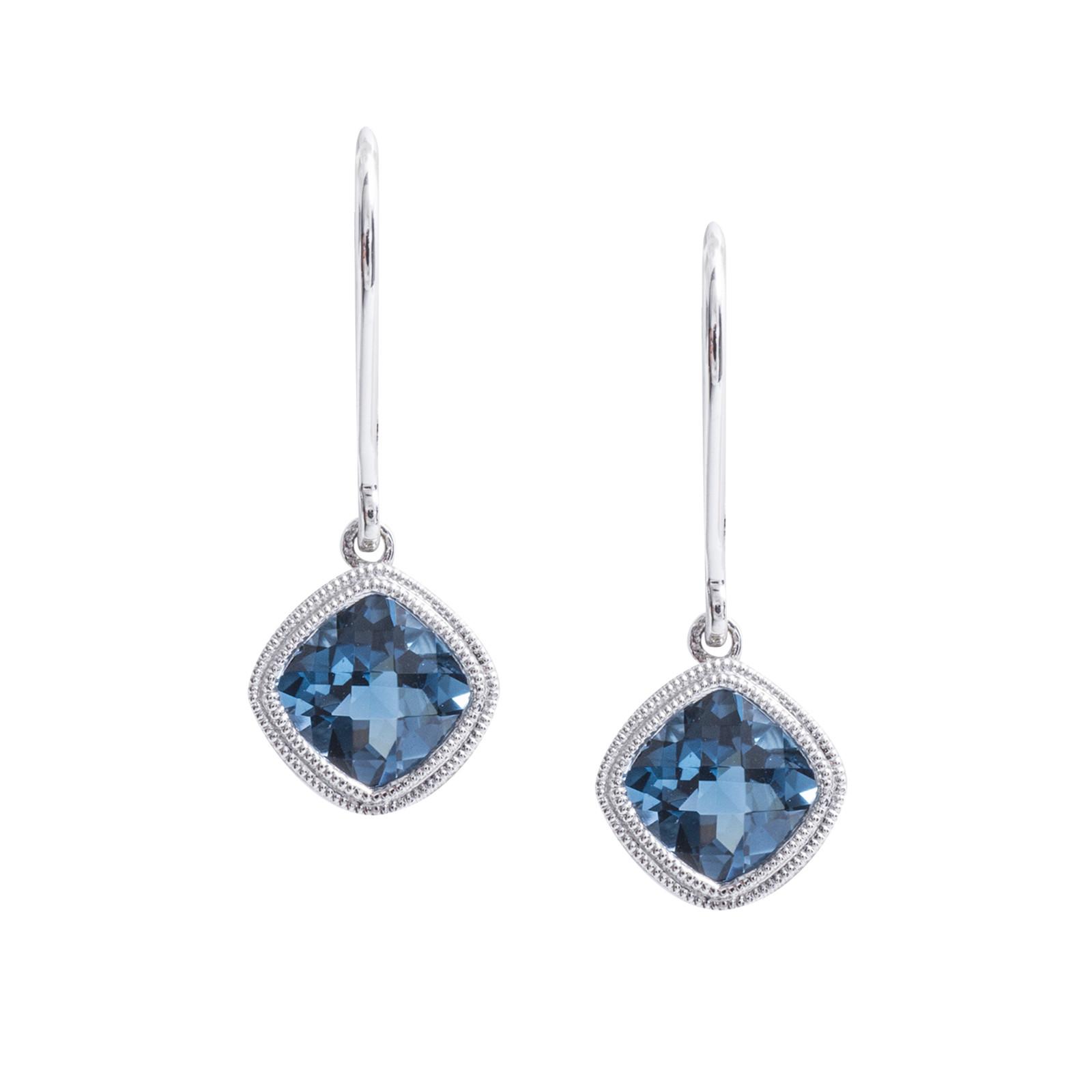 New 2.10 CTW Blue Topaz Drop Earrings