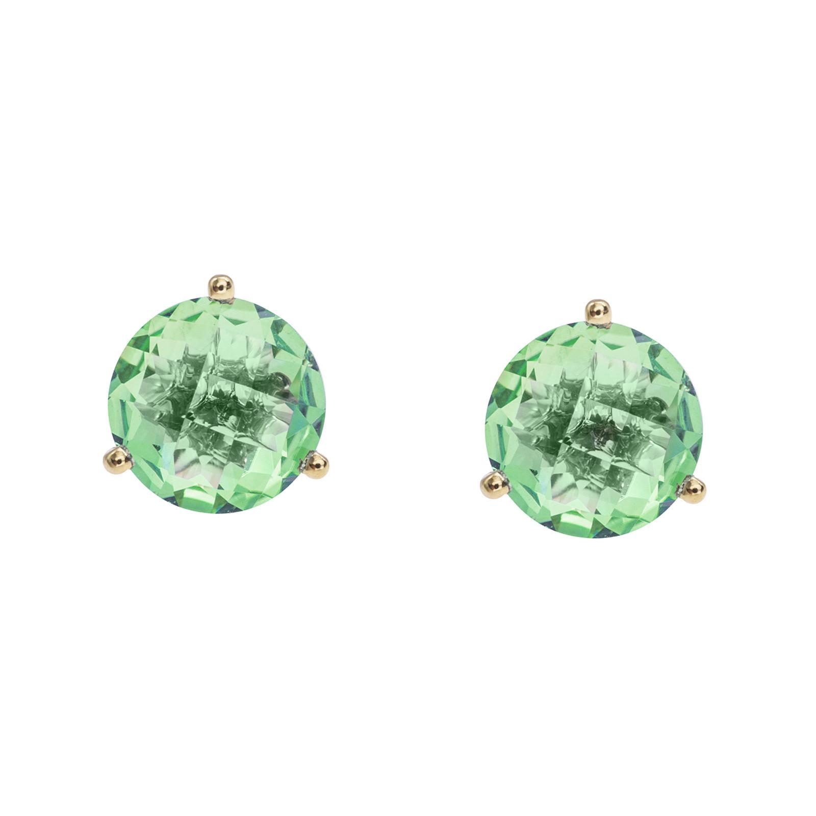 New 3.88 CTW Peridot Stud Earrings