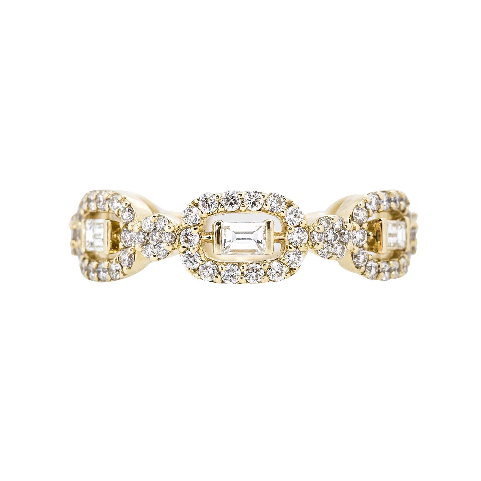 New Oro Alexander 0.90 CTW Diamond Wedding Band