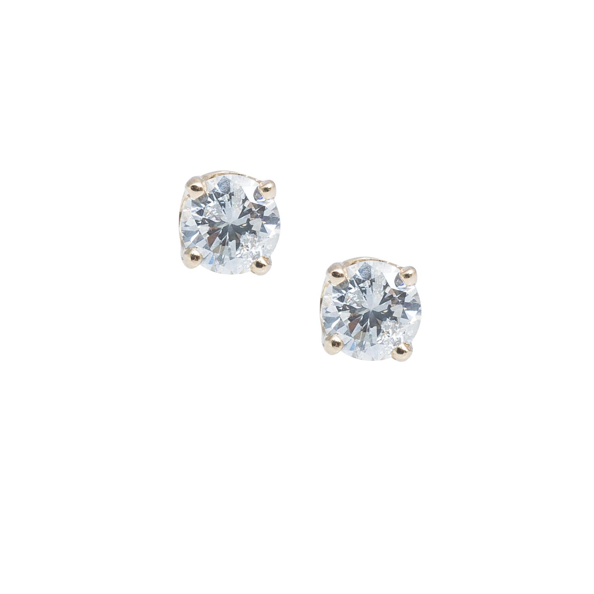 Vintage 0.38 CTW Diamond Stud Earrings