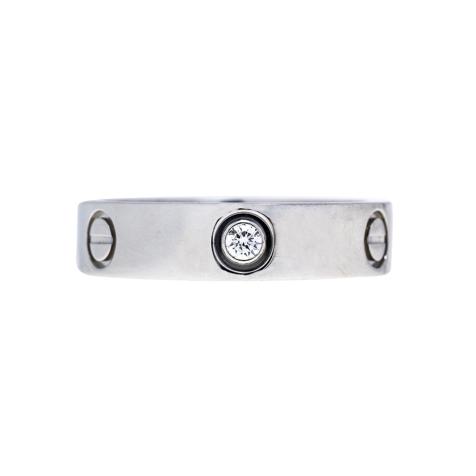 Vintage Cartier Diamond Love Ring