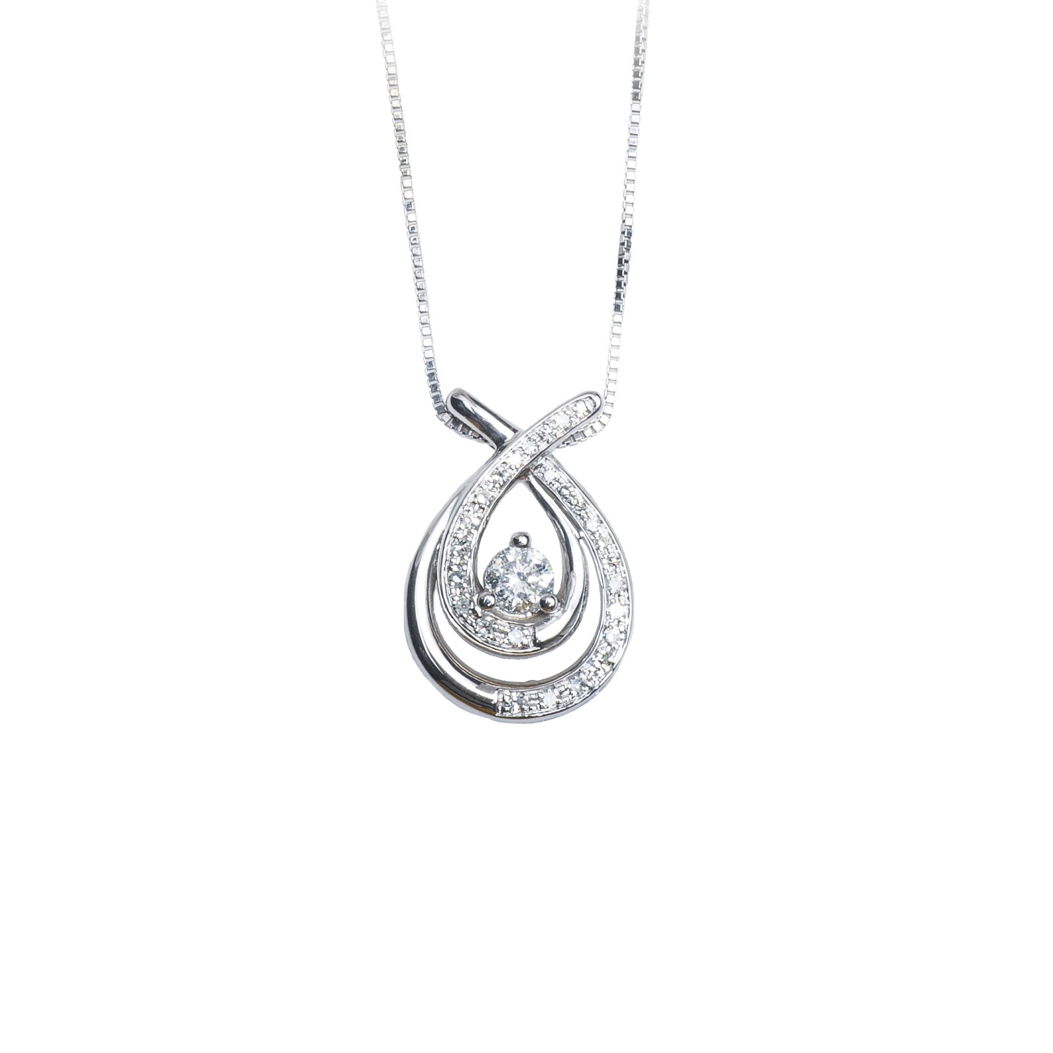 Vintage 0.45 CTW Diamond Pendant