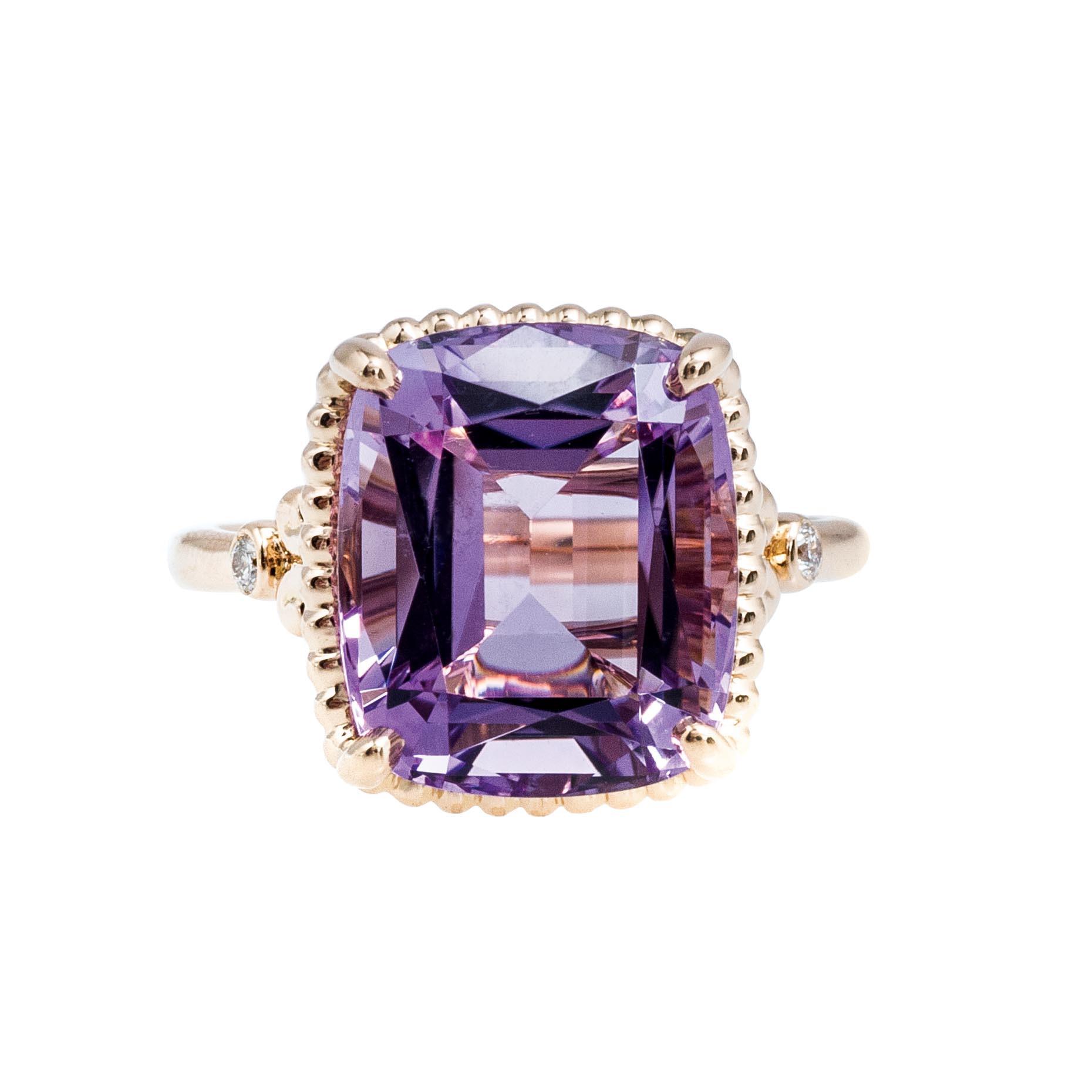 6428c10a9 5.73 ctw amethyst diamond tiffany sparklers ring ...