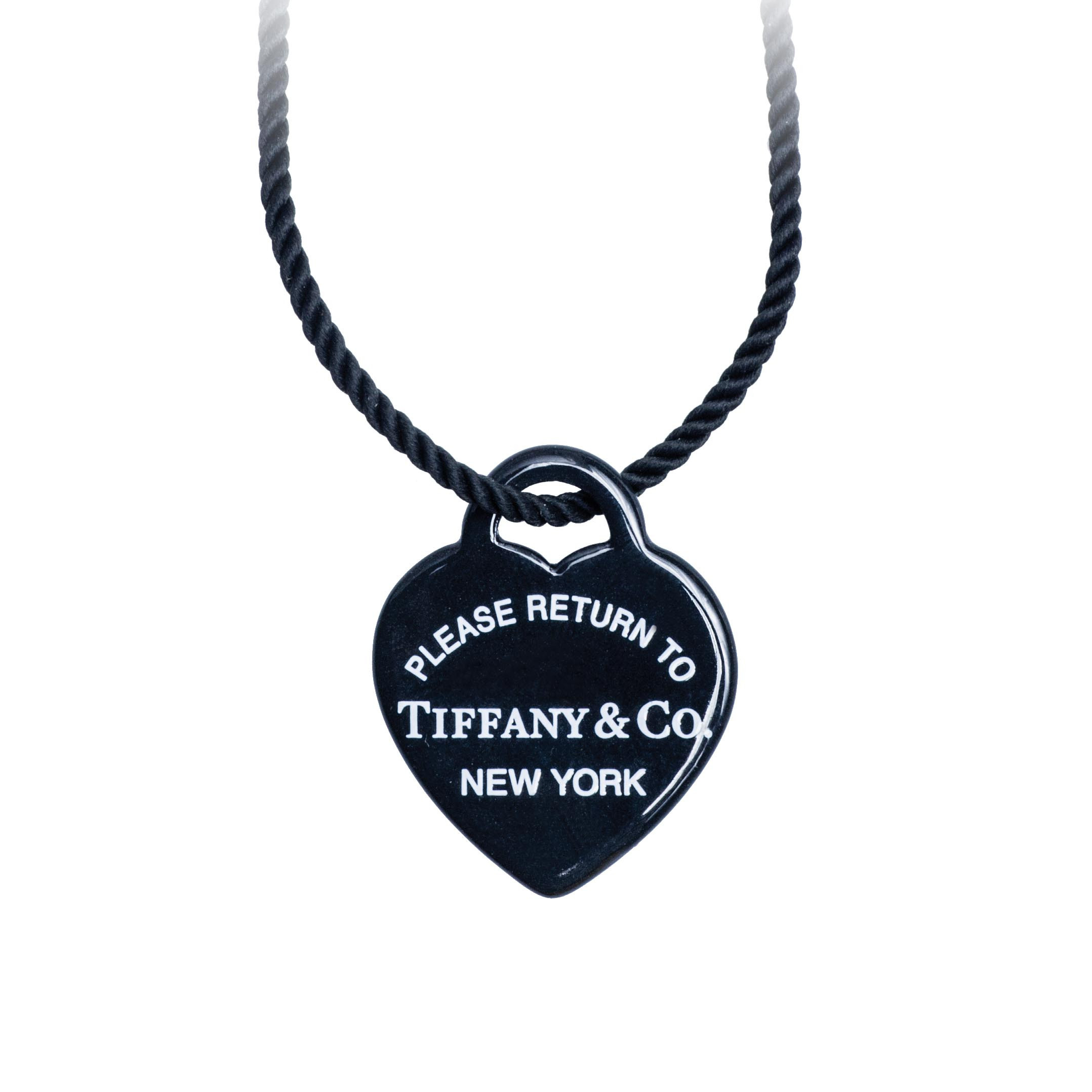 Vintage Tiffany Co Please Return To Tiffany Heart Tag Charm Necklace