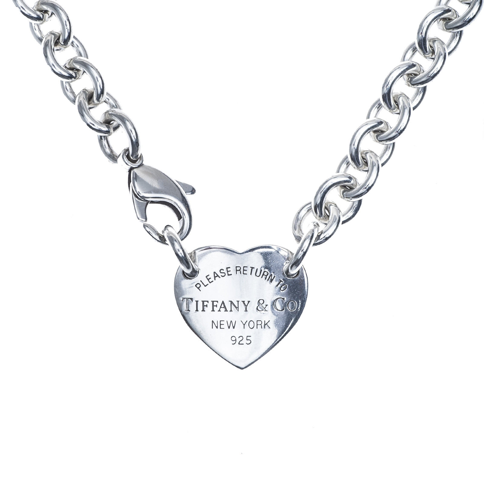 Vintage Tiffany & Co. Return to Tiffany Heart Tag Necklace