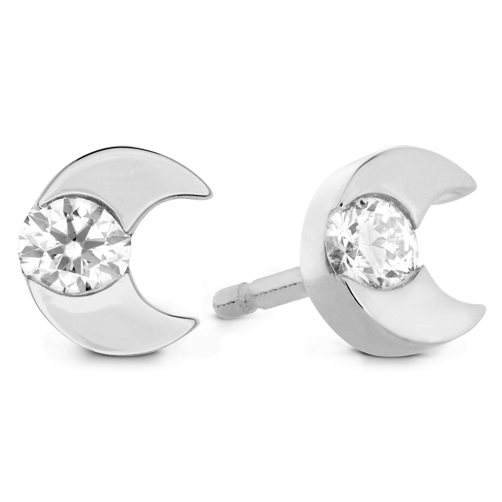 New Hearts On Fire® 0.18 CTW Diamond Charmed Half Moon Stud Earrings