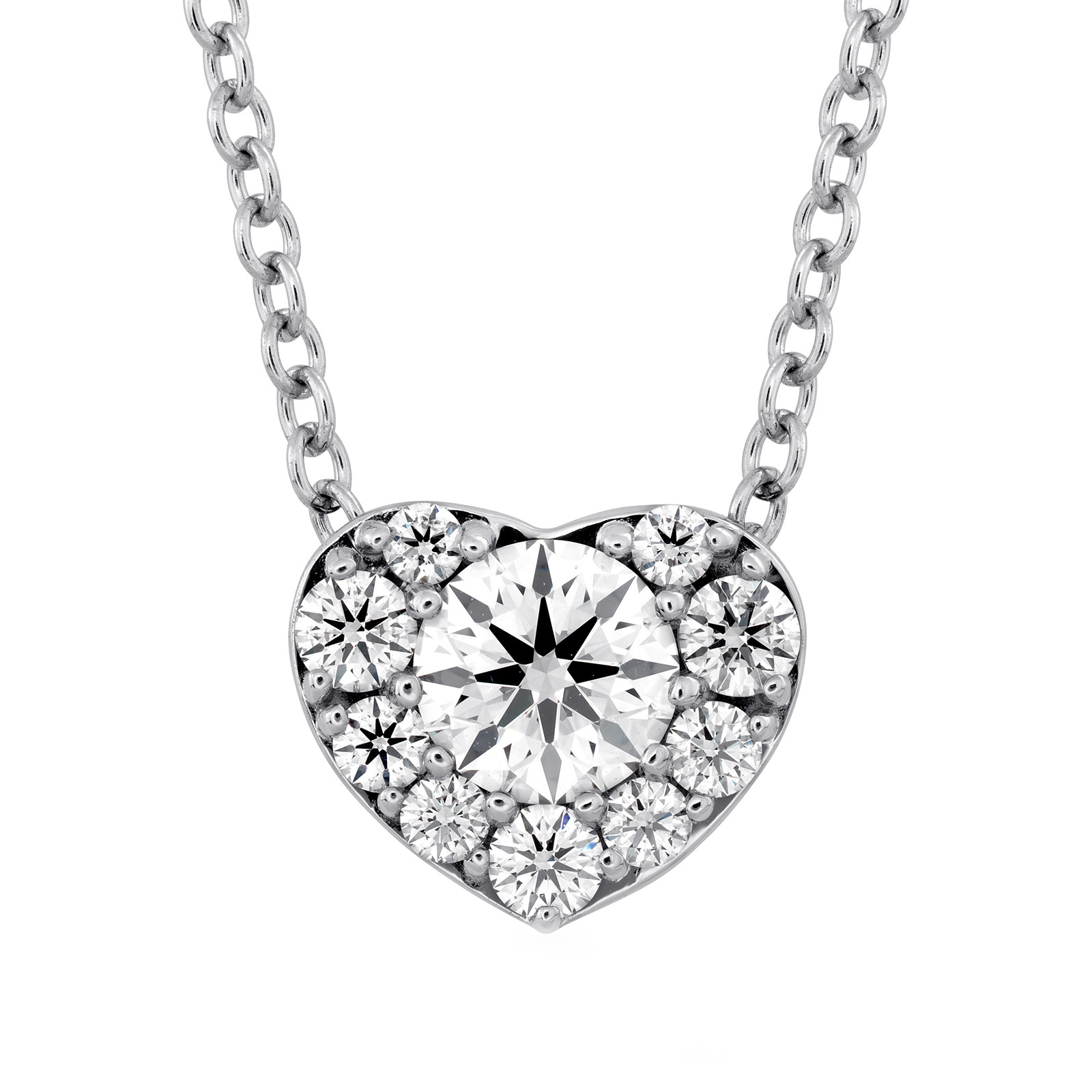 New Hearts On Fire® 0.45 CTW Diamond Fulfillment Heart Necklace