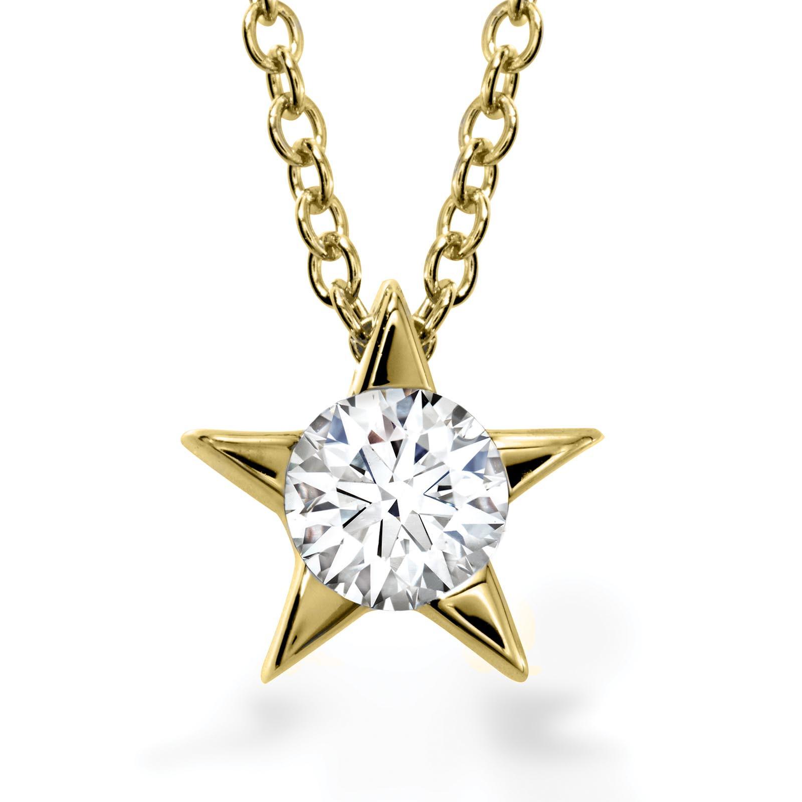 New Hearts On Fire® 0.16 CT Diamond Illa Star Necklace
