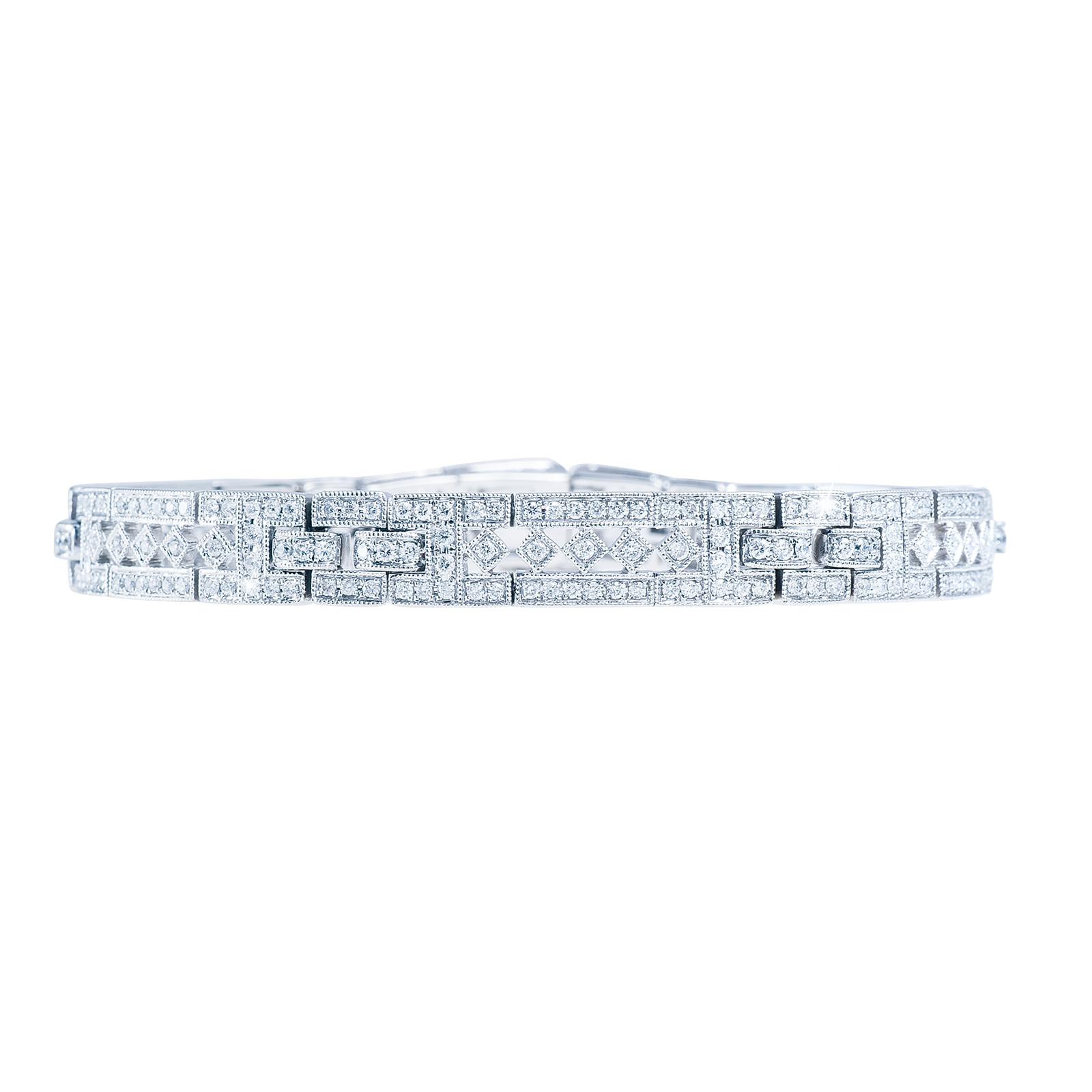 Vintage 1.85 CTW Diamond Bracelet