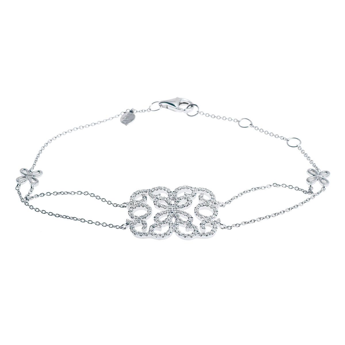Vintage Djula 0.39 CTW Diamond Buttefly Bracelet