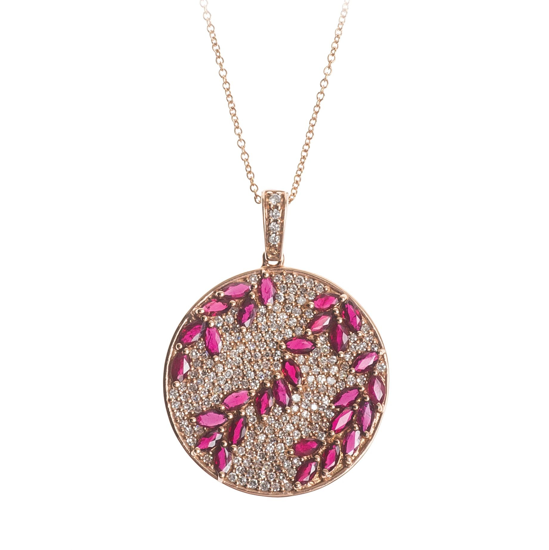 pendant diamond shaped j x with copy rose chain approx ruby i single and gold effy circle rosa set marquise gallery necklace cable vintage pave cut image ctw inch