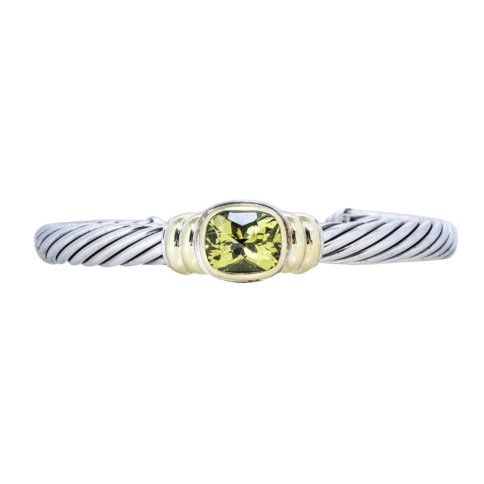 Vintage David Yurman Lemon Quartz Noblesse Bracelet