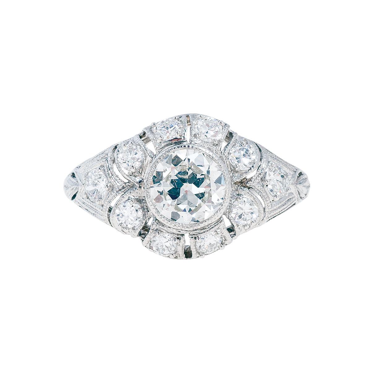 Antique Edwardian 1.30 CTW Diamond Engagement Ring