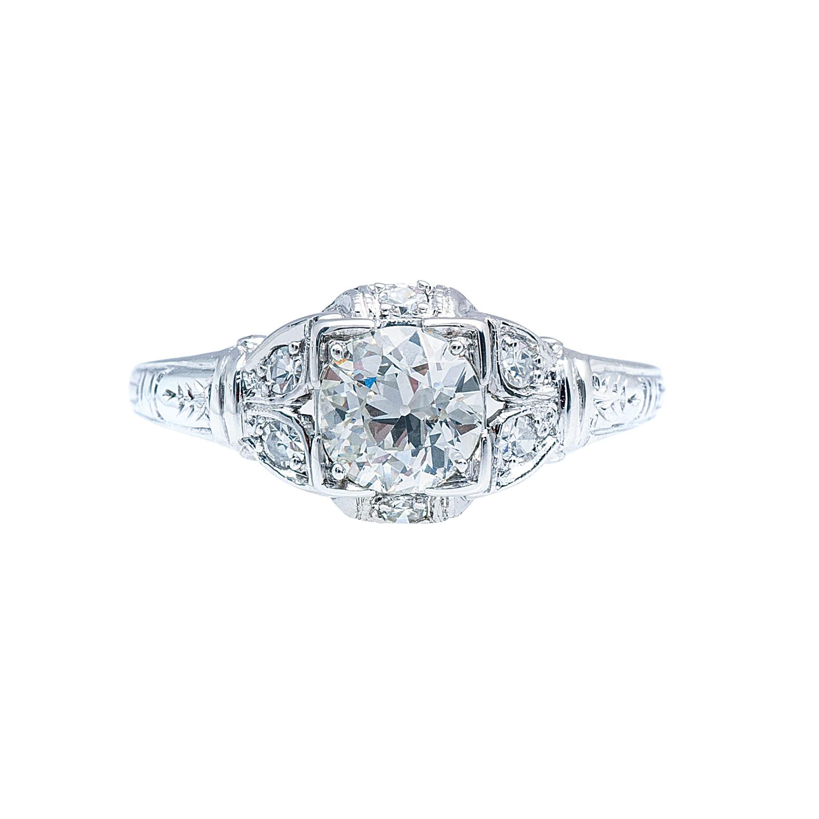 Antique Edwardian 0.74 CTW Diamond Engagement Ring