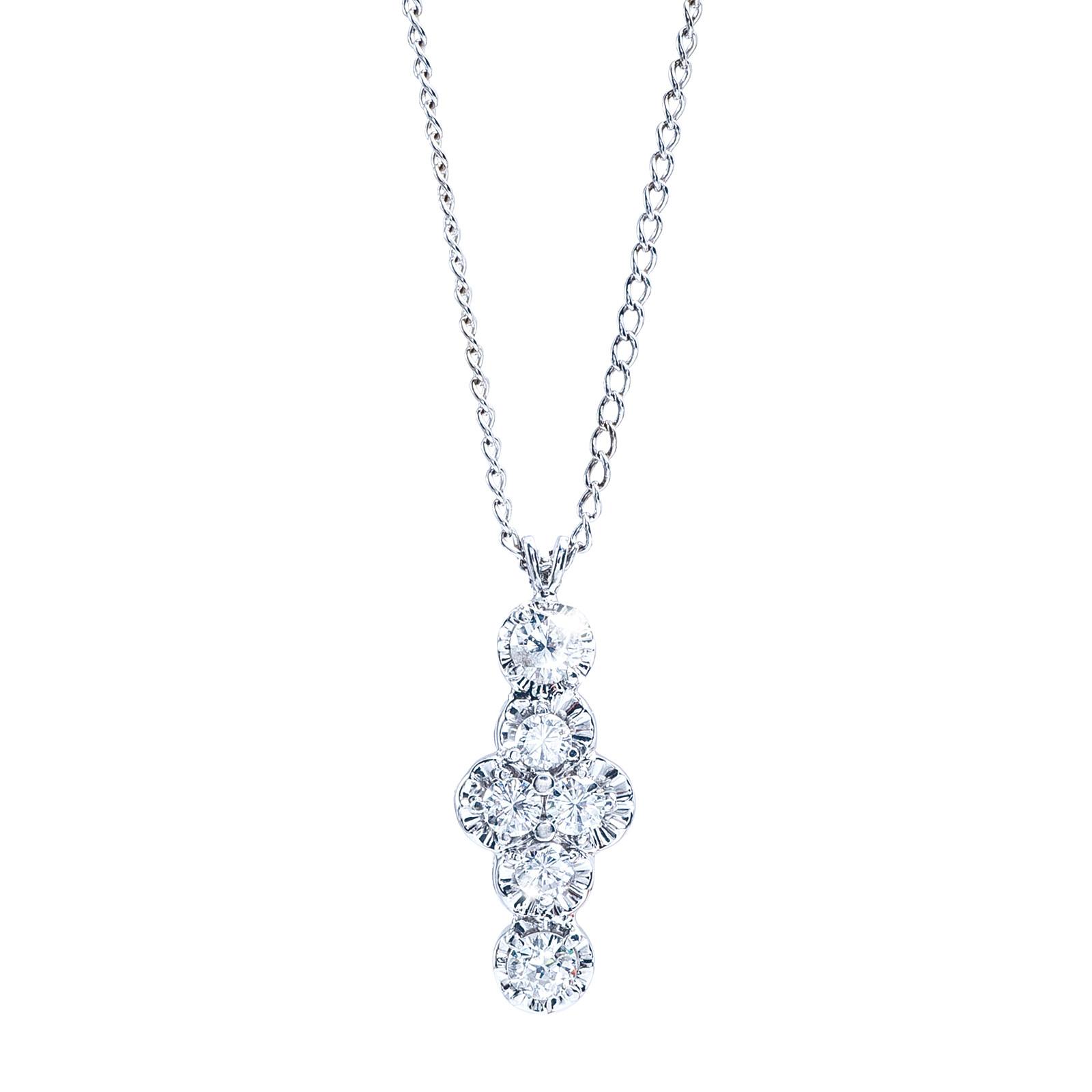 "Vintage 0.88 CTW Diamond 18"" Necklace"