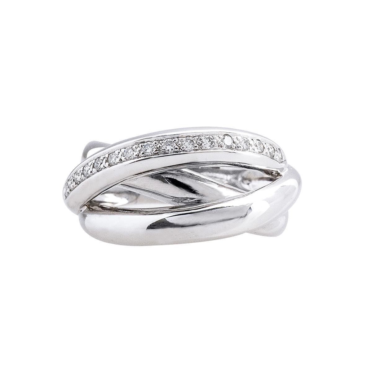 Vintage 0.16 CTW Diamond Crisscross Ring