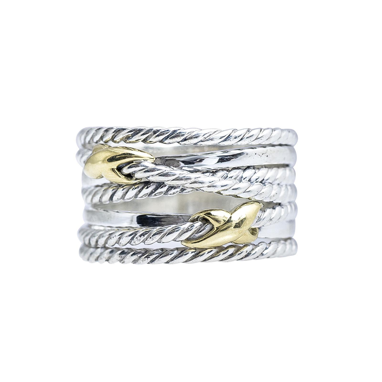 Vintage David Yurman Double Crossover Ring