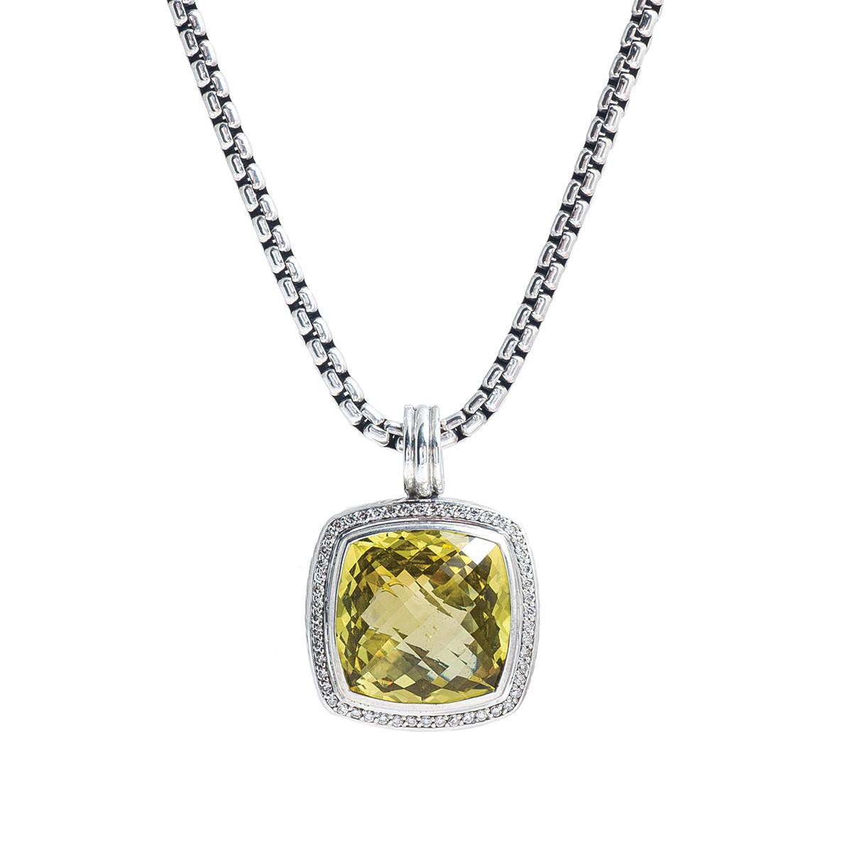 David yurman albion lemon quartz diamond necklace vintage david yurman albion lemon quartz diamond necklace gallery image mozeypictures Images